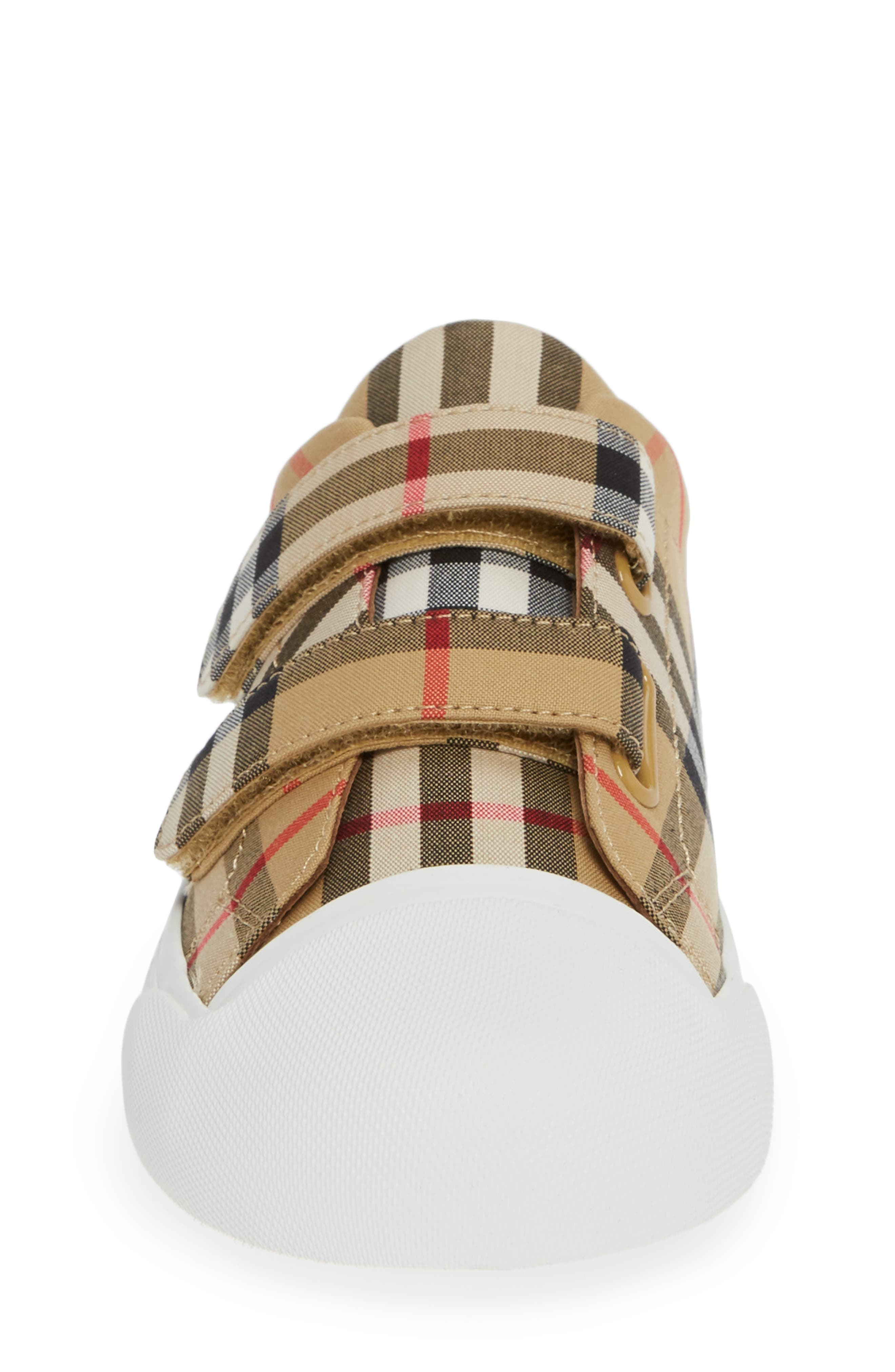 BURBERRY, Belside Sneaker, Alternate thumbnail 4, color, ANTIQUE YELLOW-OPTIC WHITE