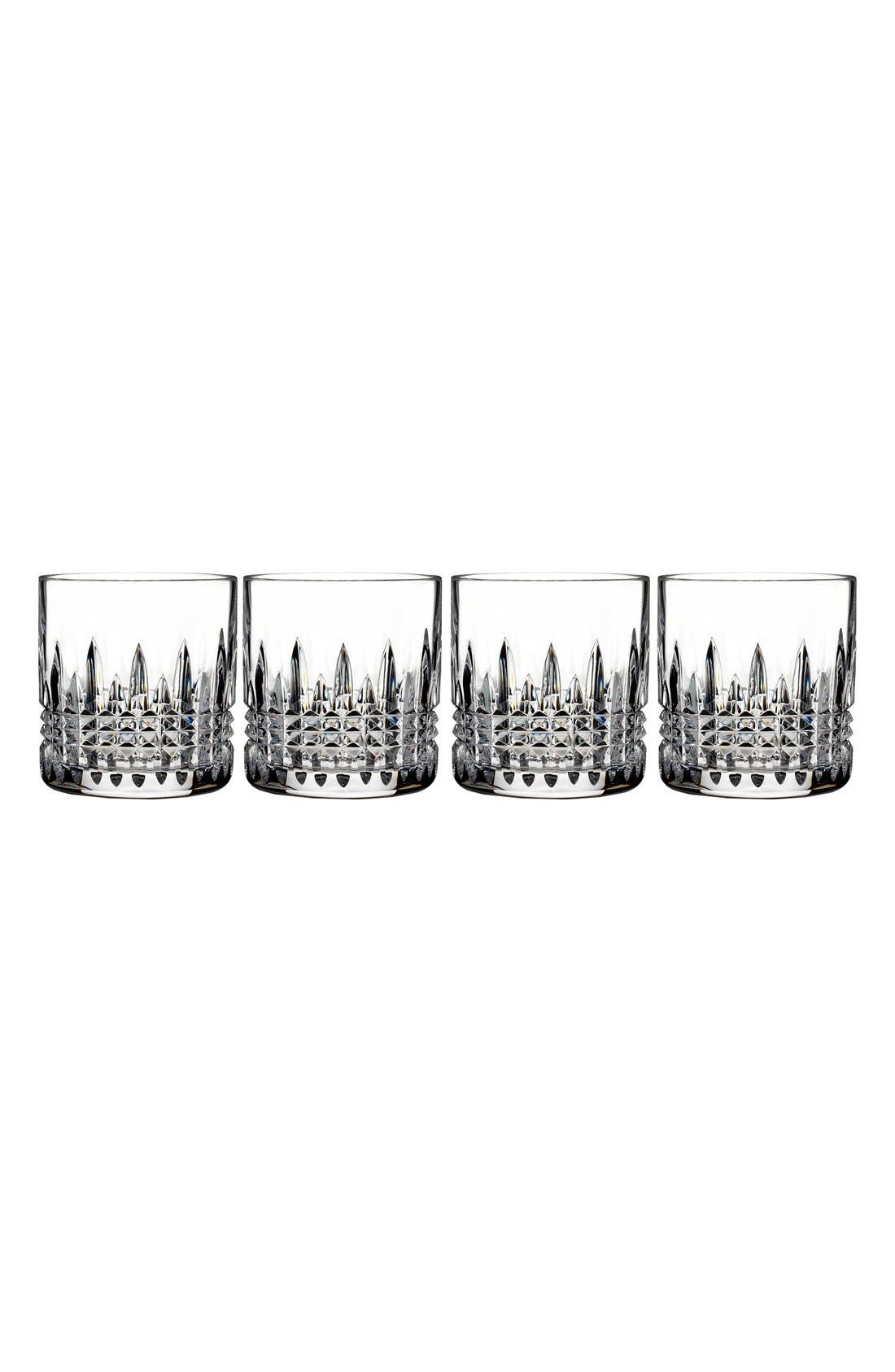 WATERFORD, 'Lismore Diamond' Lead Crystal Tumblers, Main thumbnail 1, color, CLEAR