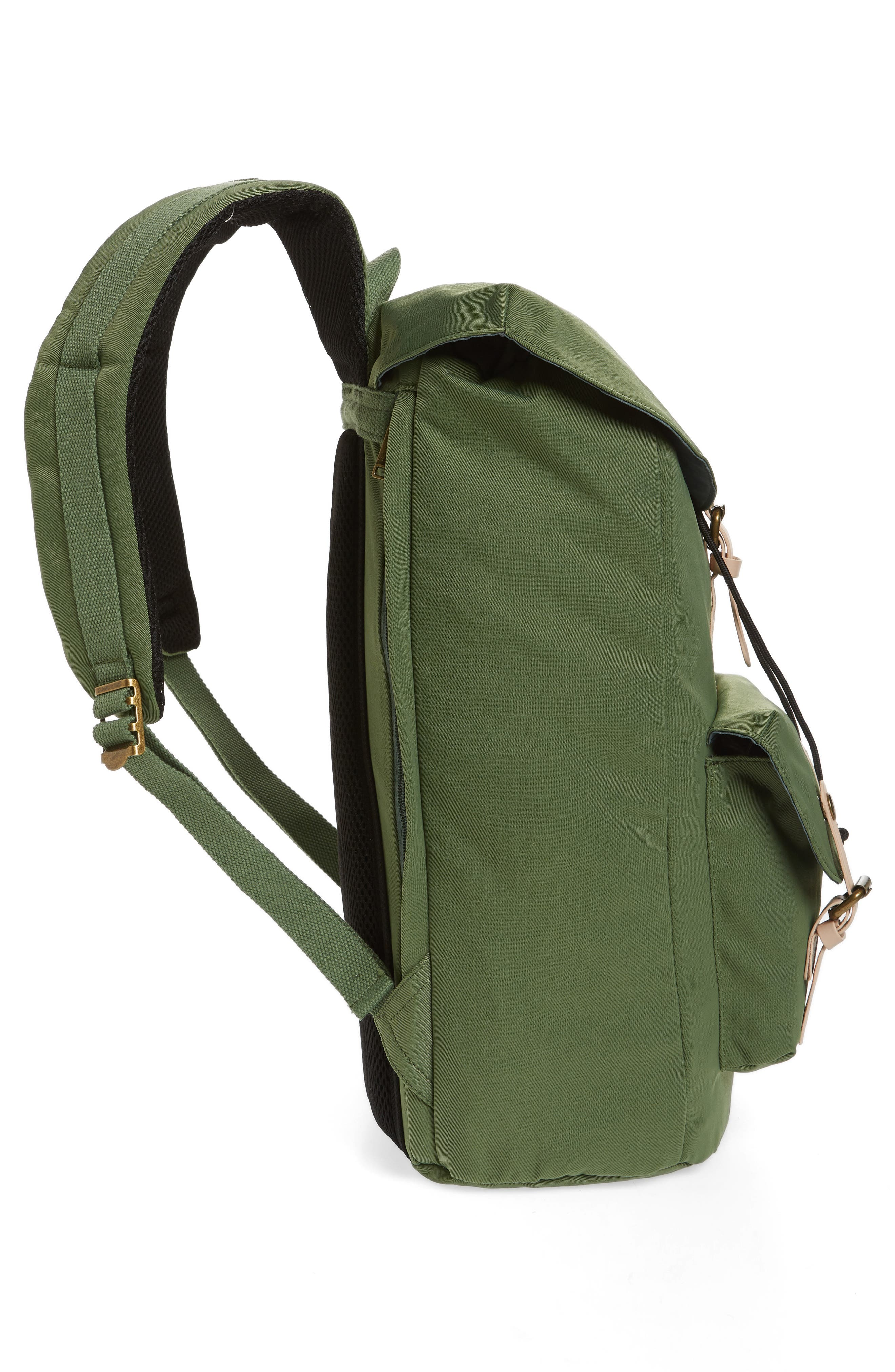 DOUGHNUT, Heritage Water Repellent Backpack, Alternate thumbnail 5, color, ARMY