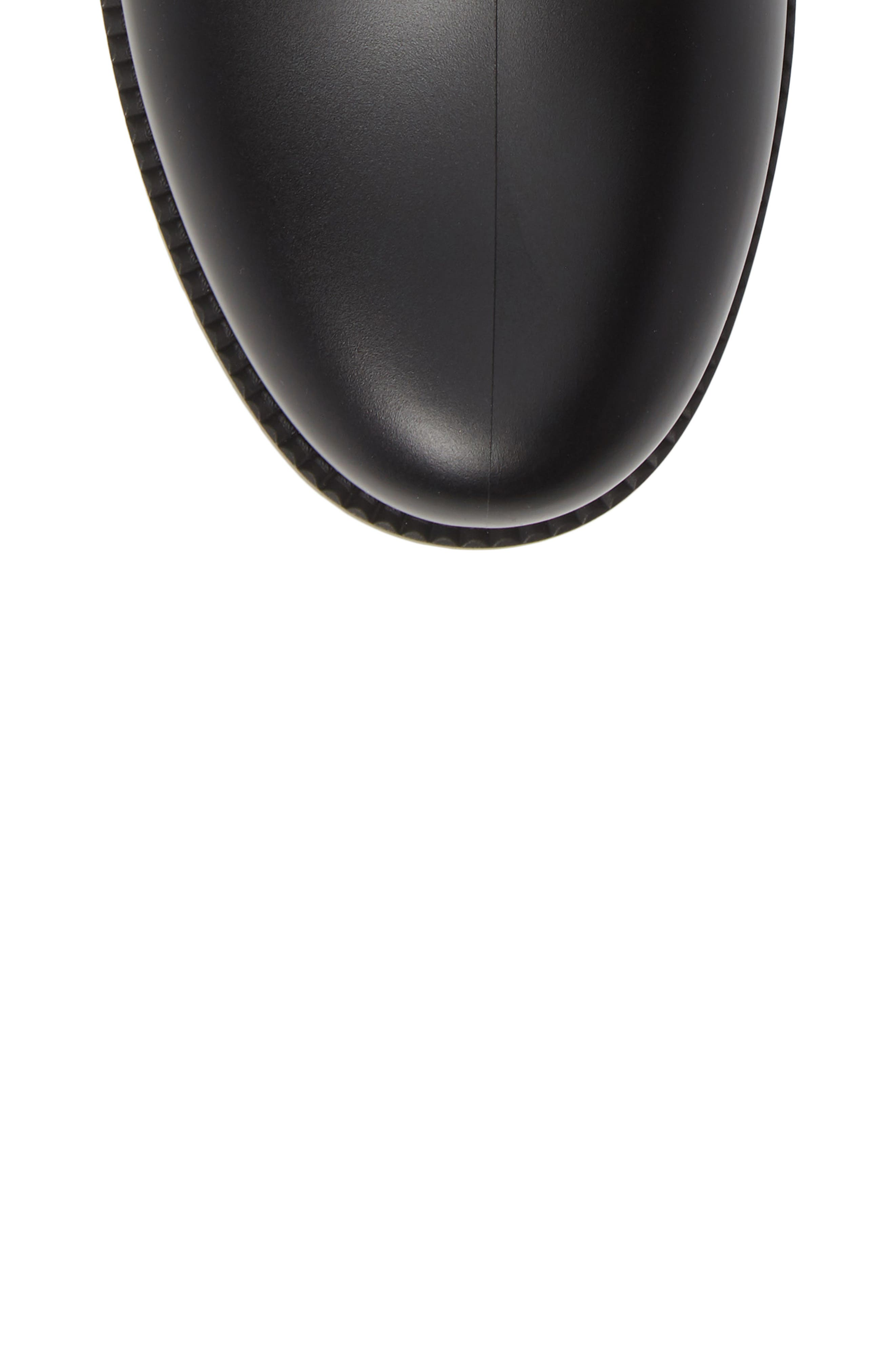 MONCLER, Ginette Stivale Knit Cuff Water Resistant Rain Boot, Alternate thumbnail 5, color, BLACK