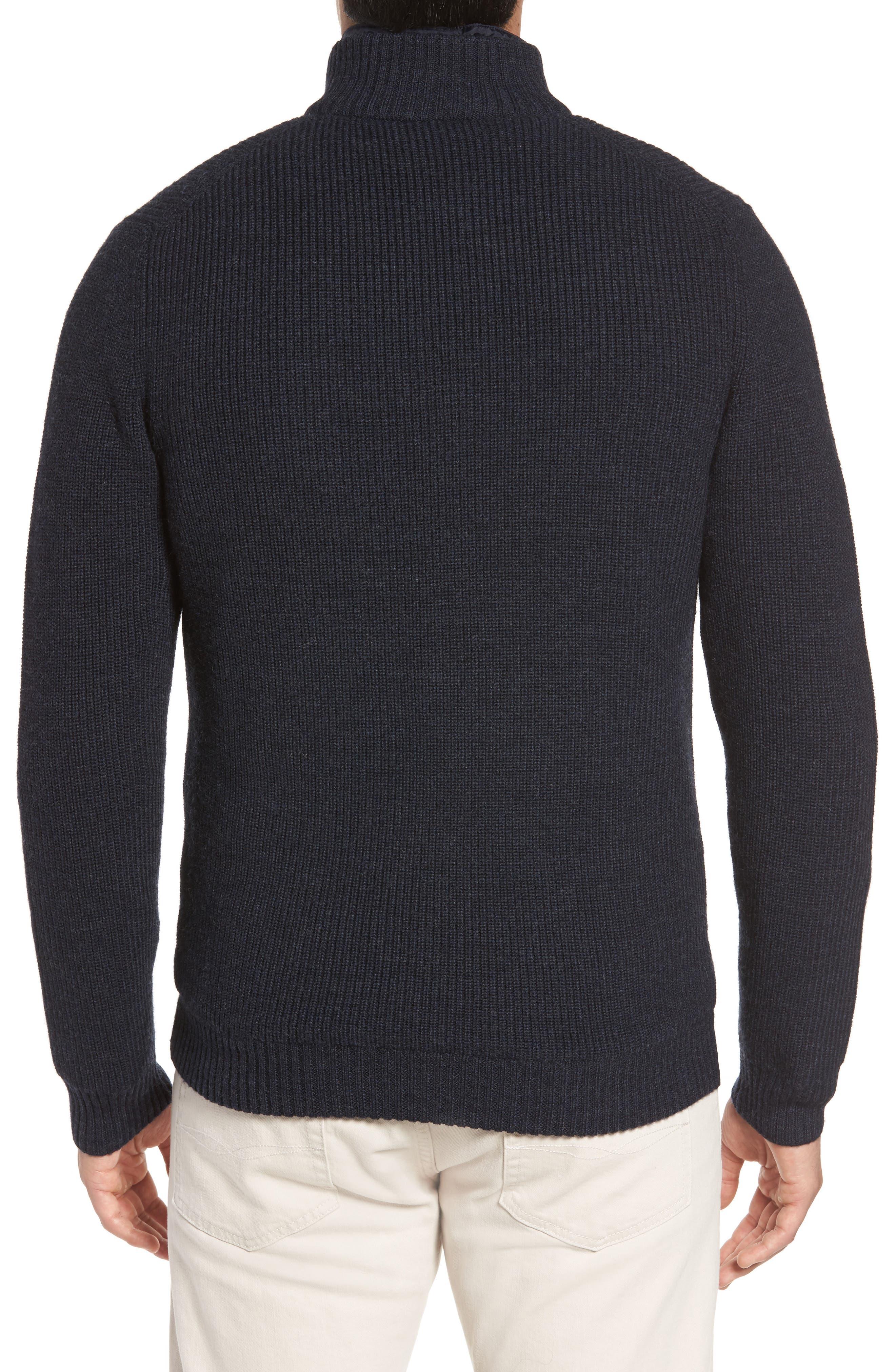 RODD & GUNN, Camerons Track Zip Wool Sweater, Alternate thumbnail 2, color, 412