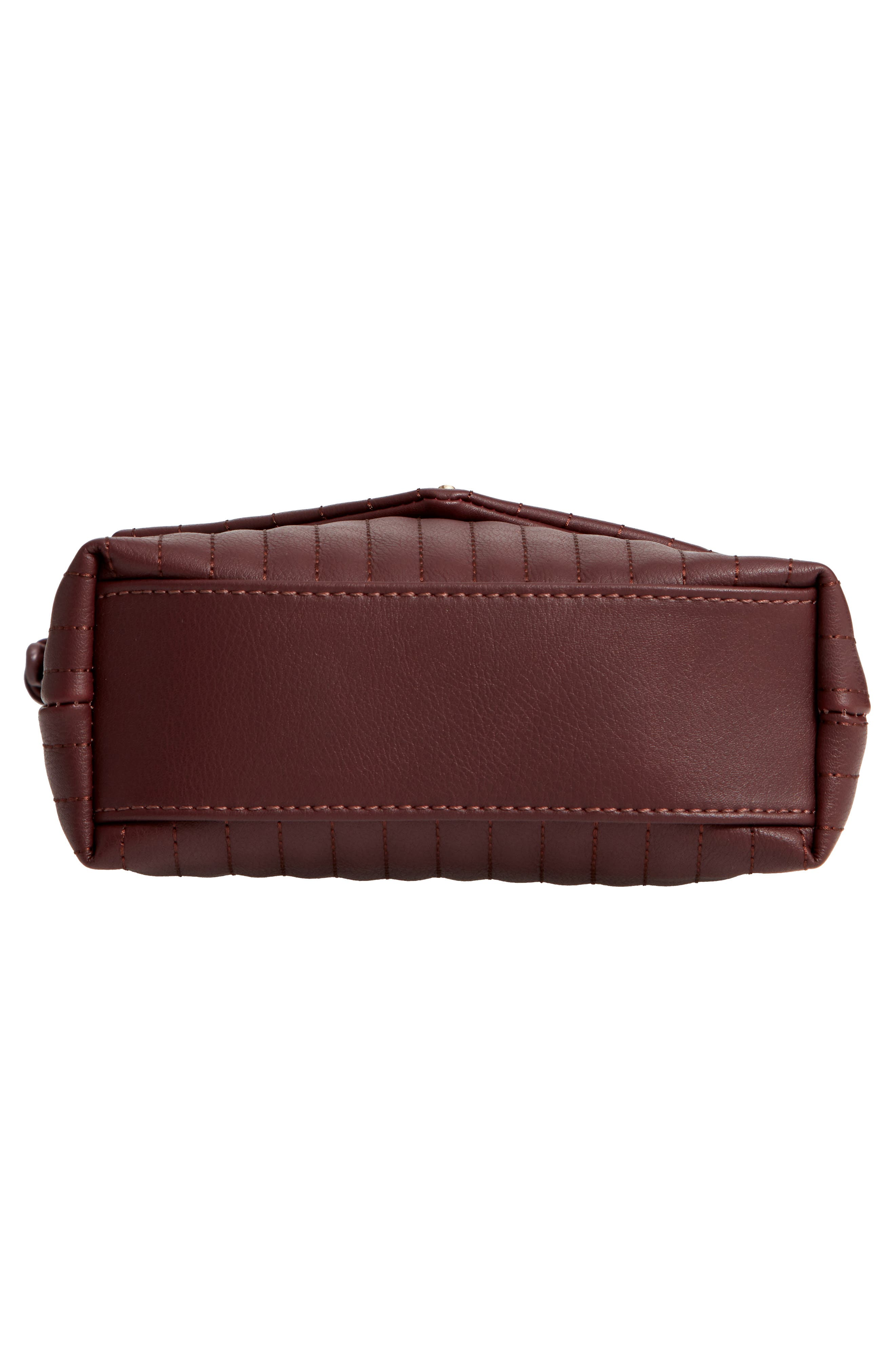 SOLE SOCIETY, Urche Faux Leather Crossbody Bag, Alternate thumbnail 7, color, OXBLOOD