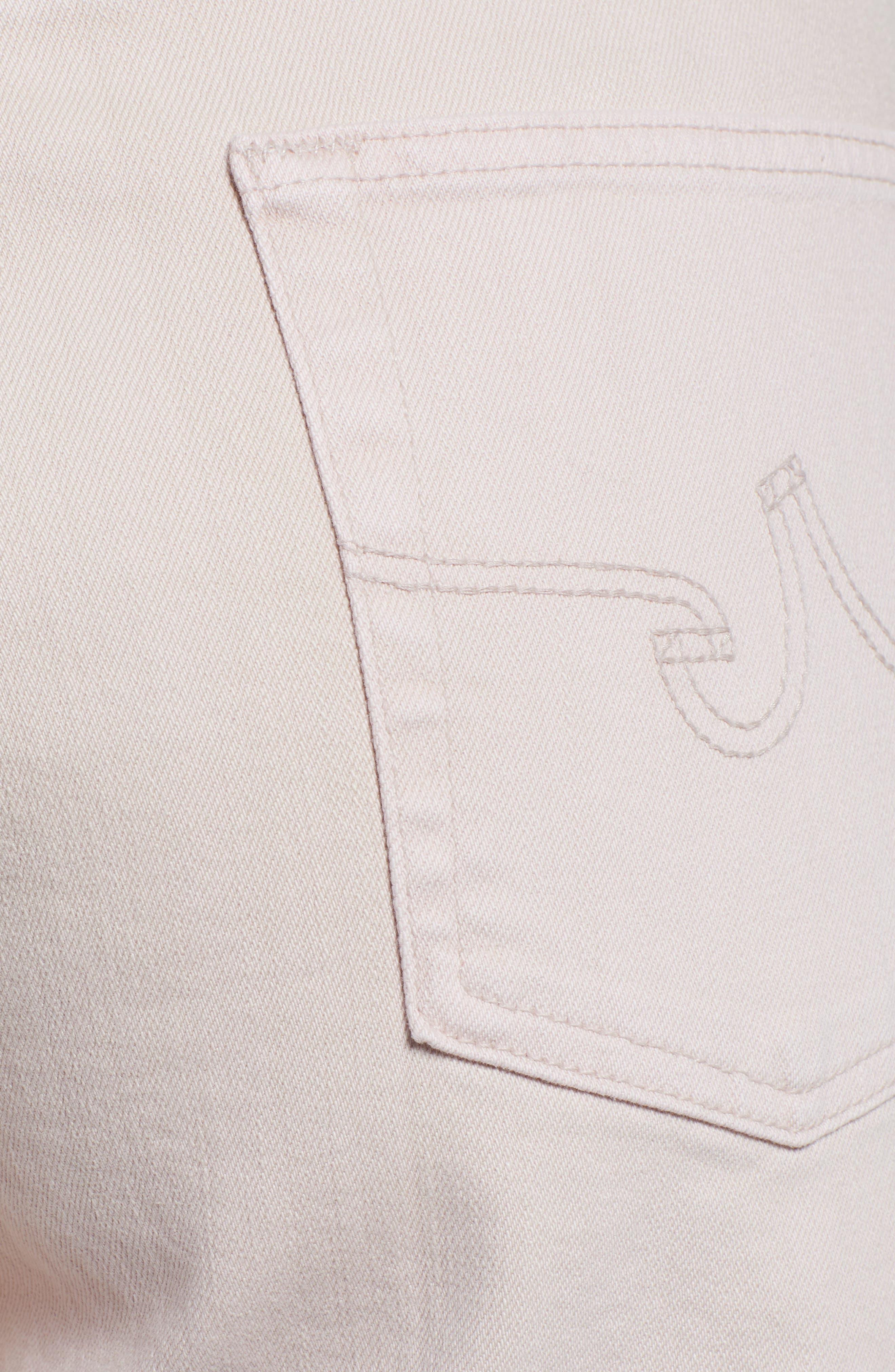 AG, Etta High Waist Crop Wide Leg Jeans, Alternate thumbnail 6, color, SULFUR PEAKED PINK