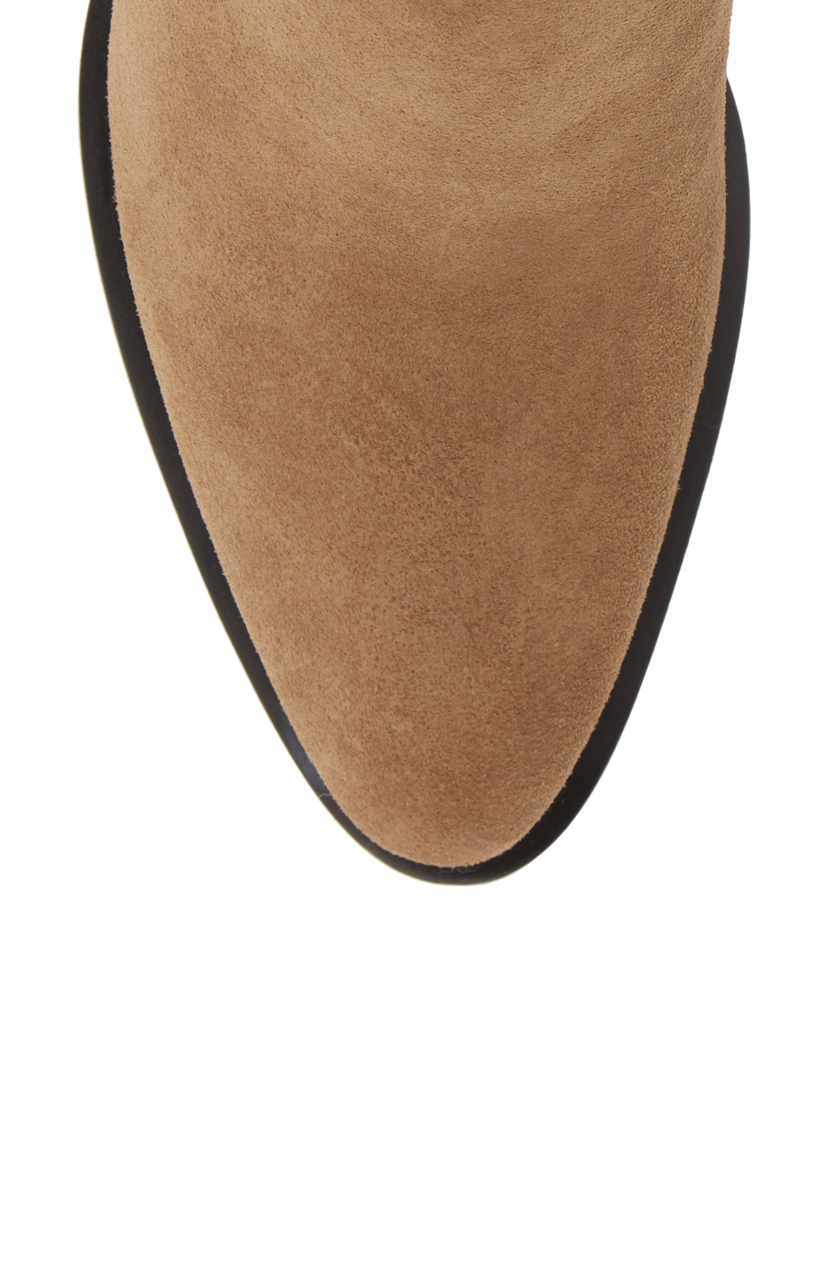 ALEXANDER WANG, Anna Mid Bootie, Alternate thumbnail 5, color, SAND SUEDE