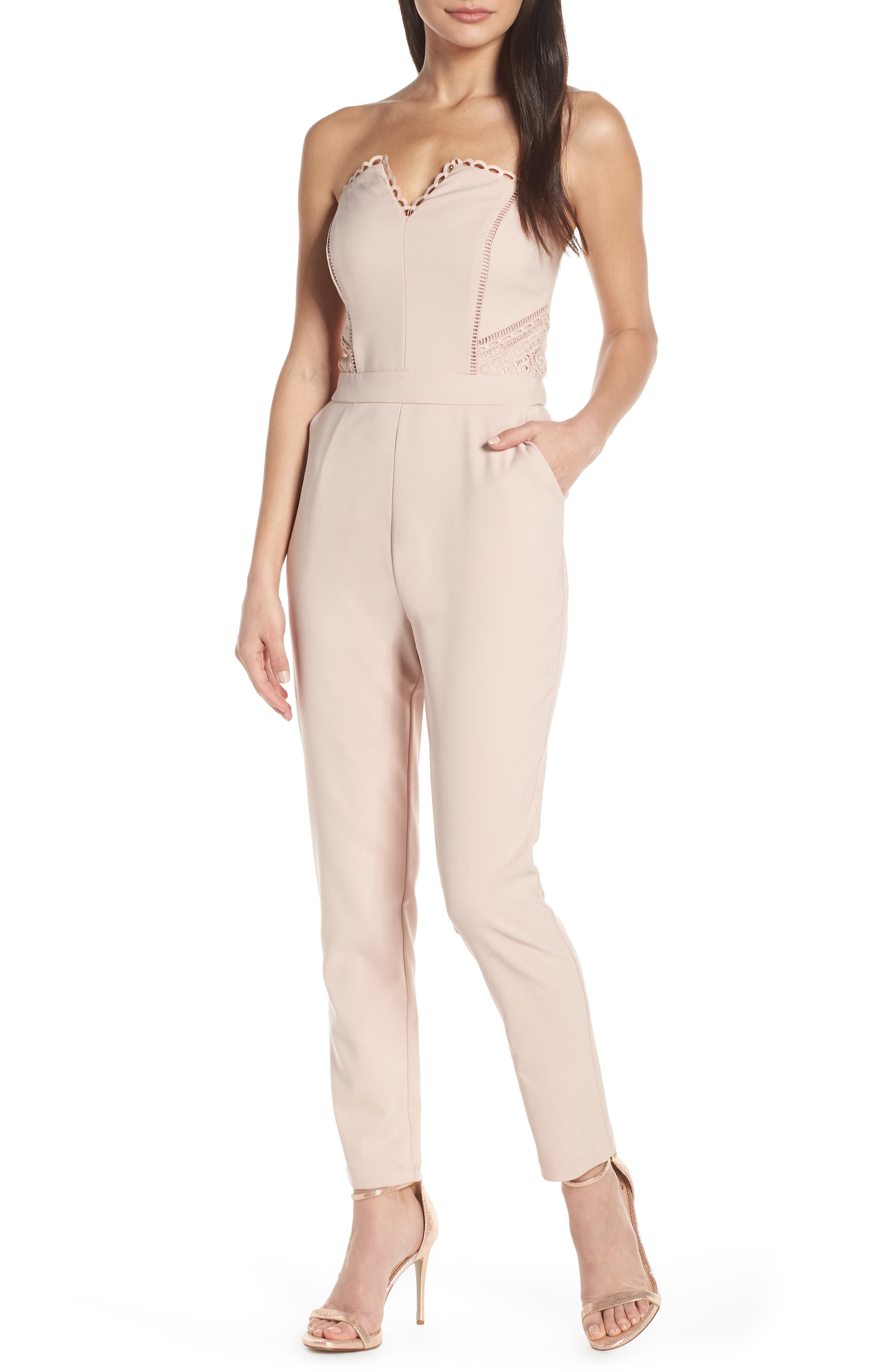 HARLYN Strapless Jumpsuit, Main, color, BLUSH