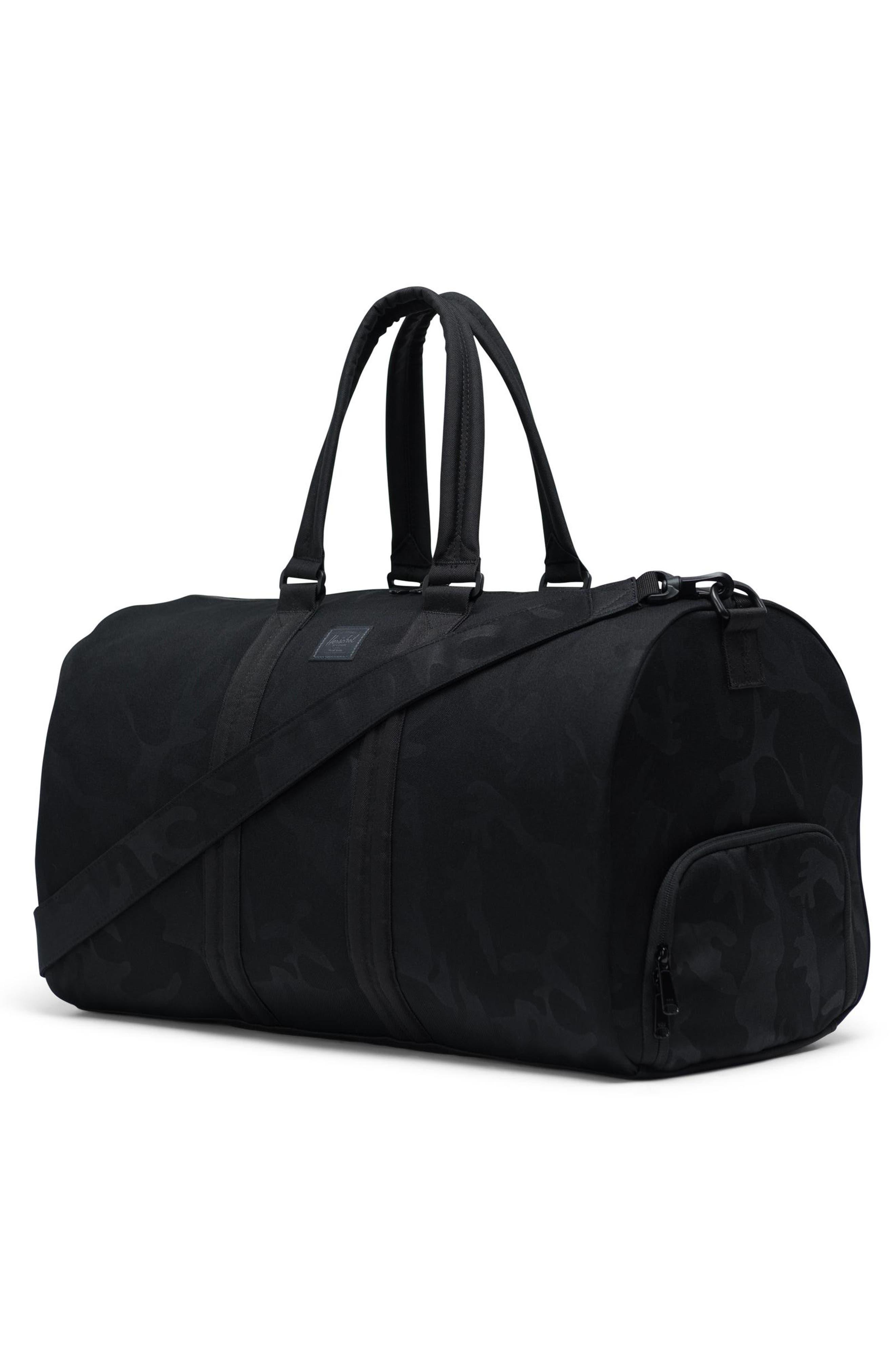 HERSCHEL SUPPLY CO., Duffle Bag, Alternate thumbnail 3, color, BLACK/ TONAL CAMO