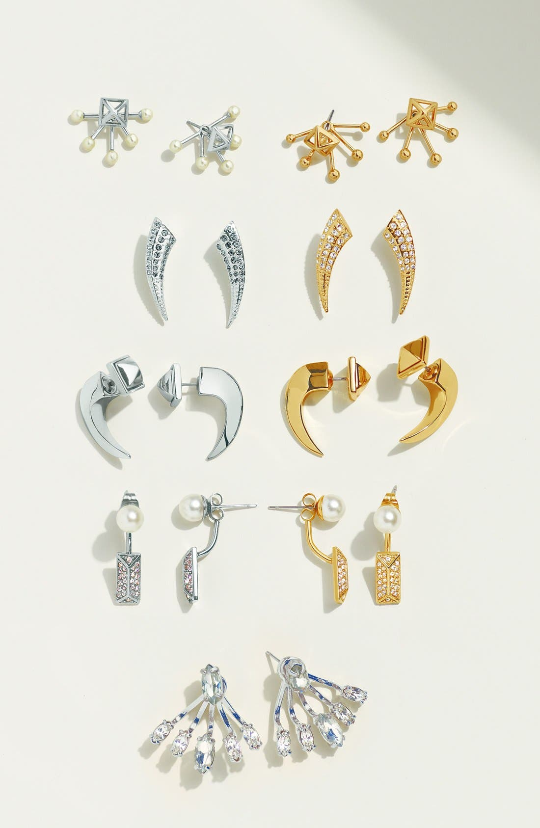REBECCA MINKOFF, Crystal Ear Jackets, Alternate thumbnail 3, color, 040