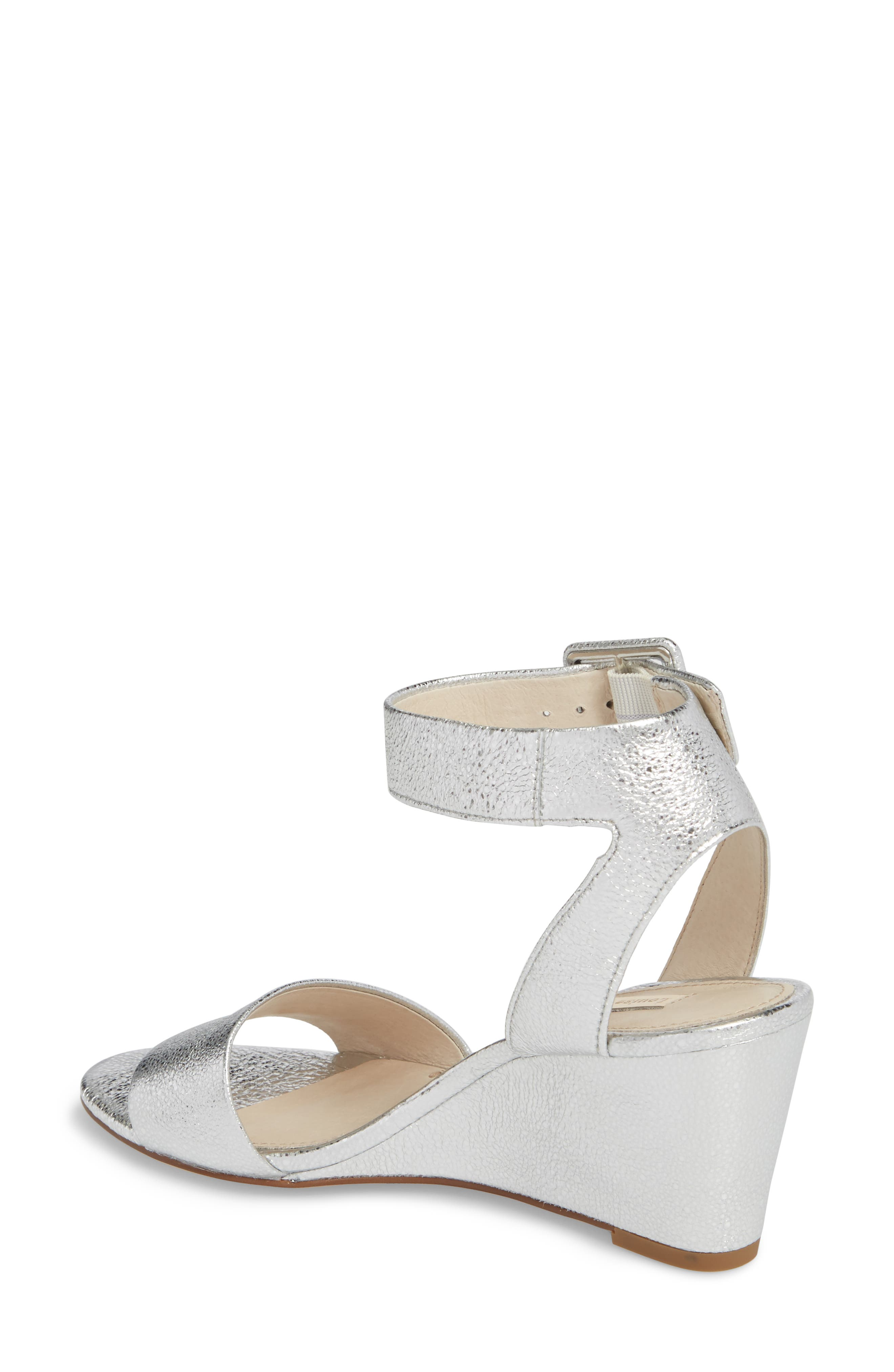 LOUISE ET CIE, Punya Wedge Sandal, Alternate thumbnail 2, color, STERLING LEATHER