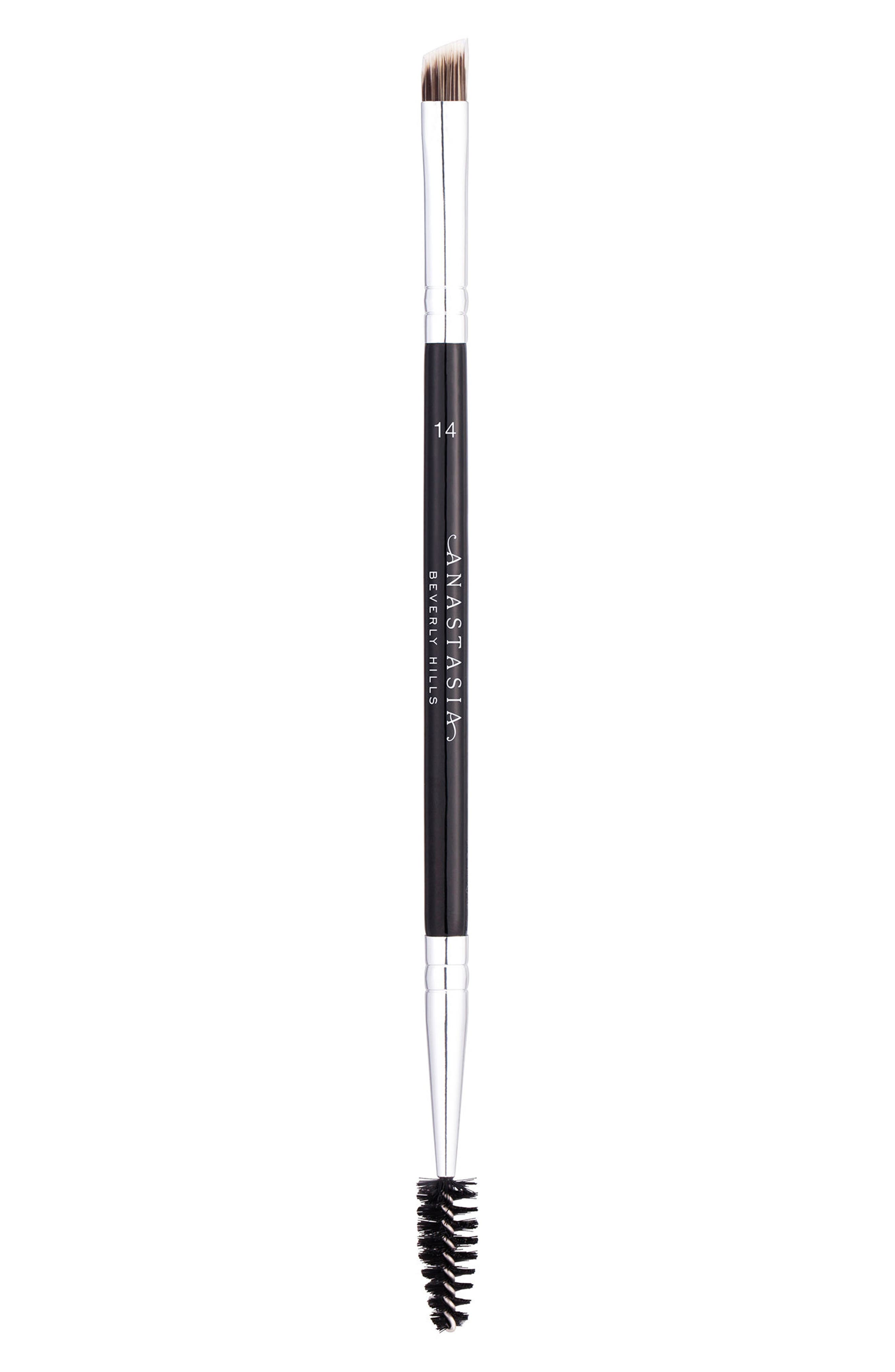 ANASTASIA BEVERLY HILLS, #14 Dual-Sided Brow & Eyeliner Brush, Main thumbnail 1, color, NO COLOR