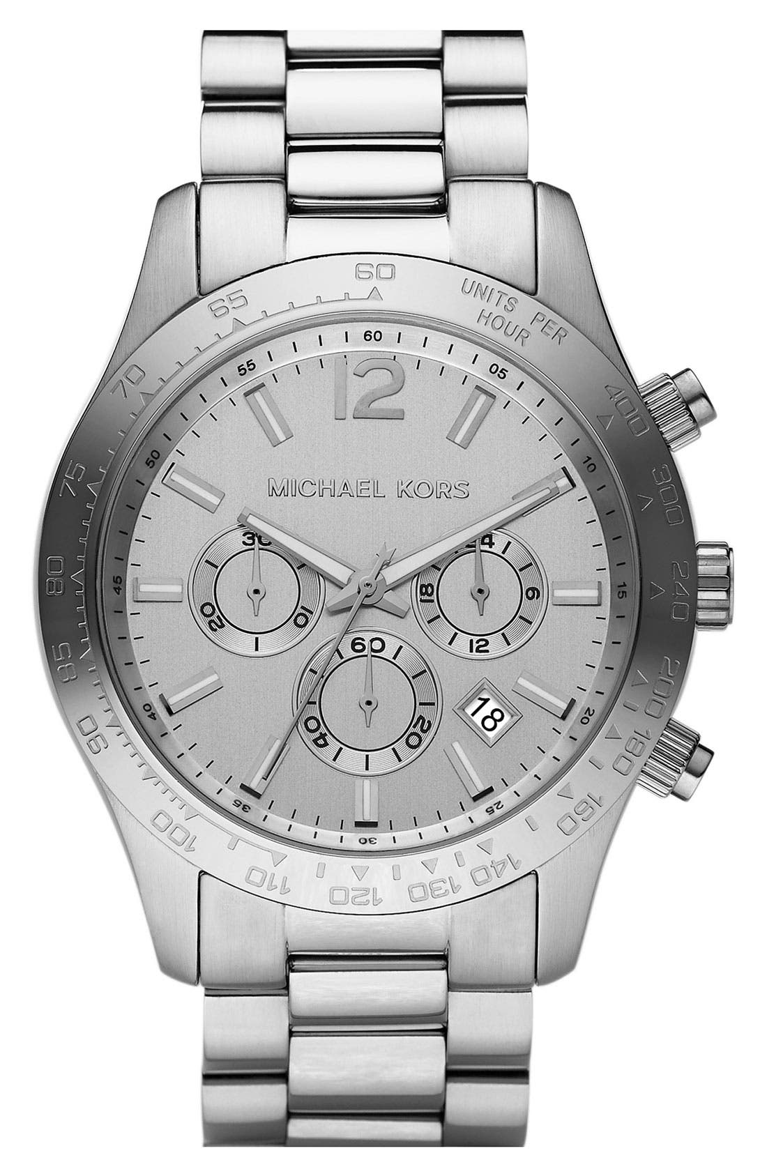 MICHAEL MICHAEL KORS, Michael Kors 'Large Layton' Chronograph Watch, Main thumbnail 1, color, 040