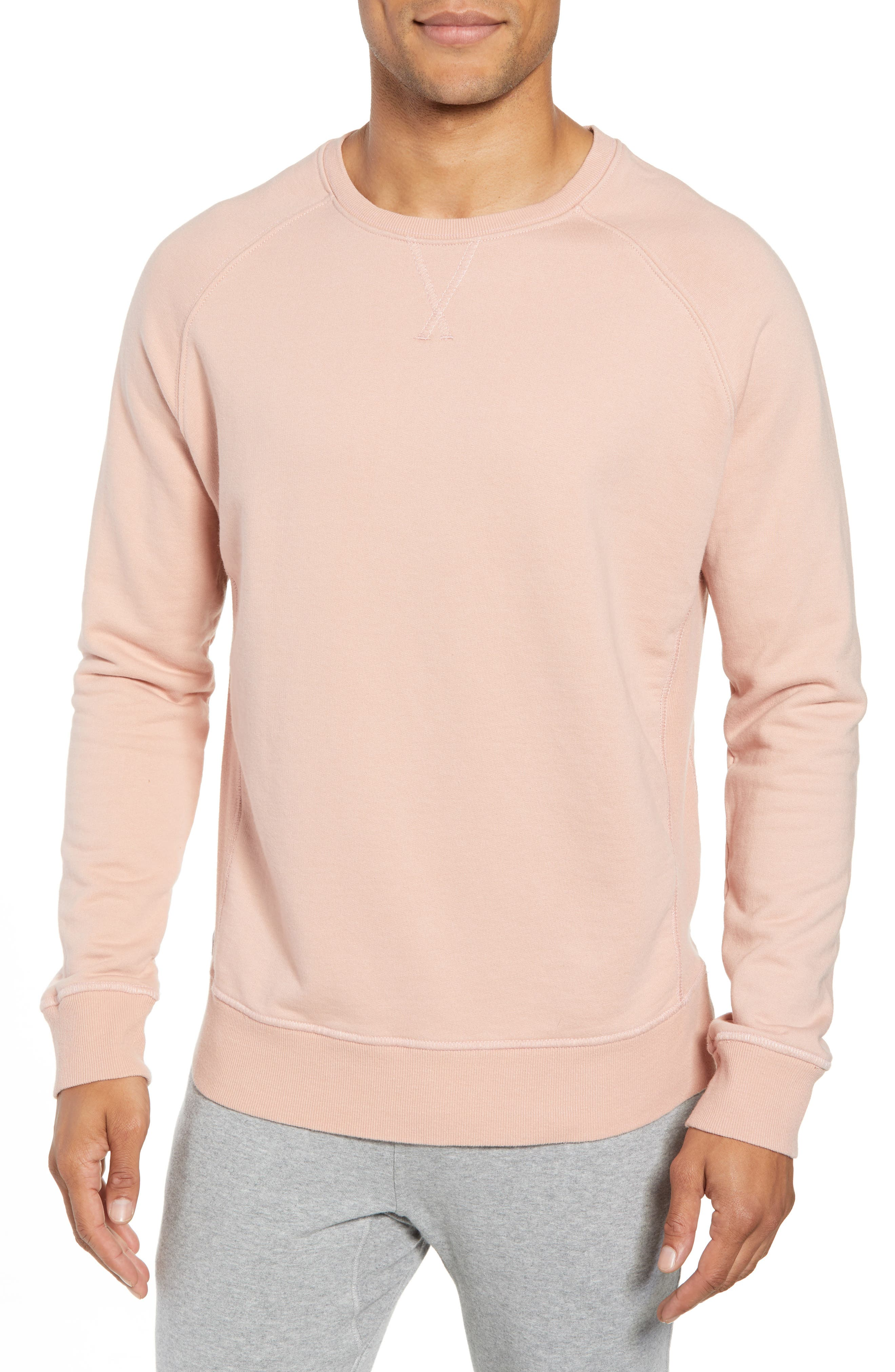 RICHER POORER Crewneck Cotton Sweatshirt, Main, color, BLUSH
