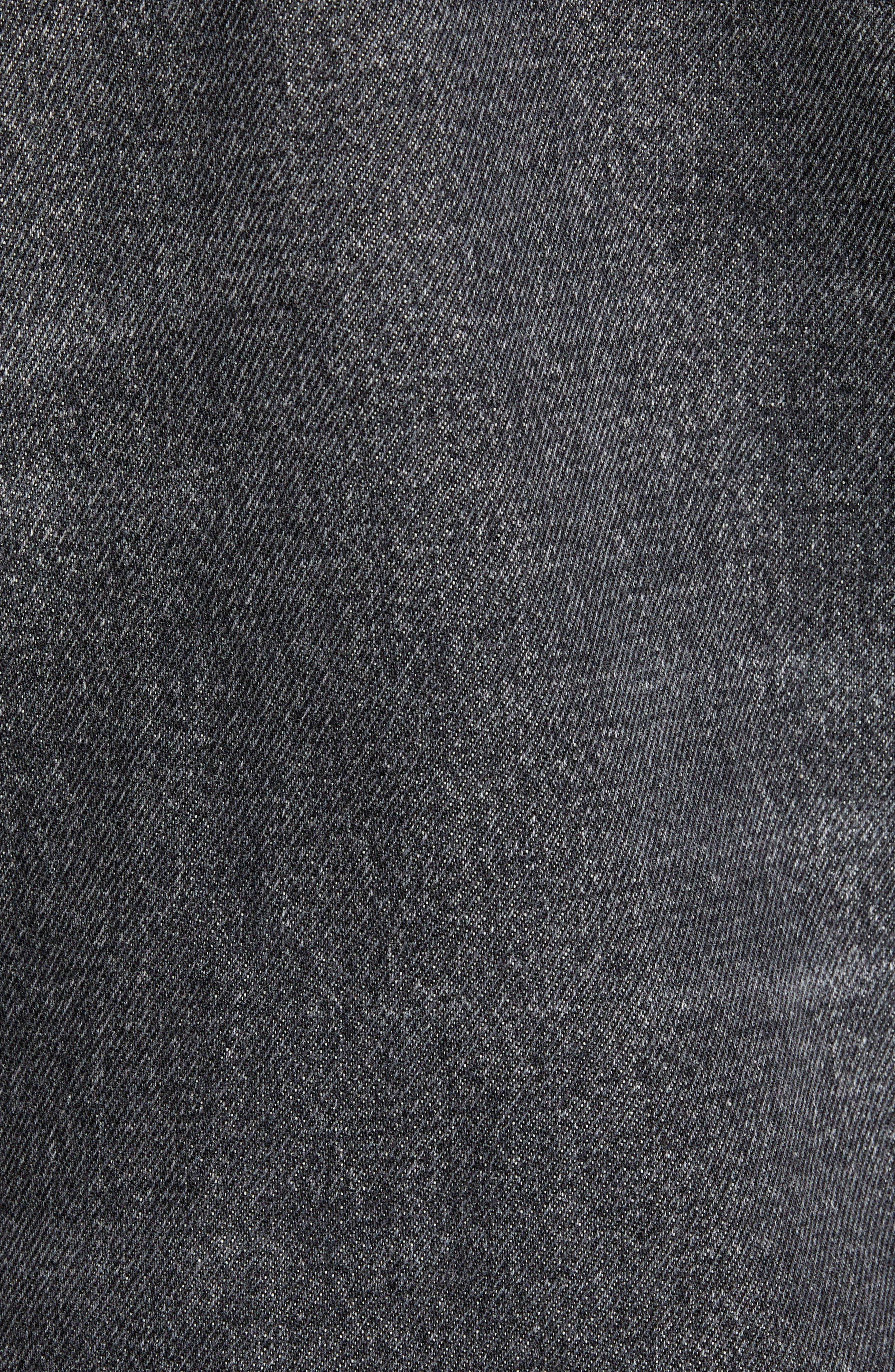 THE KOOPLES, Slim Fit Denim Jacket, Alternate thumbnail 7, color, BLACK DENIM EFFECT