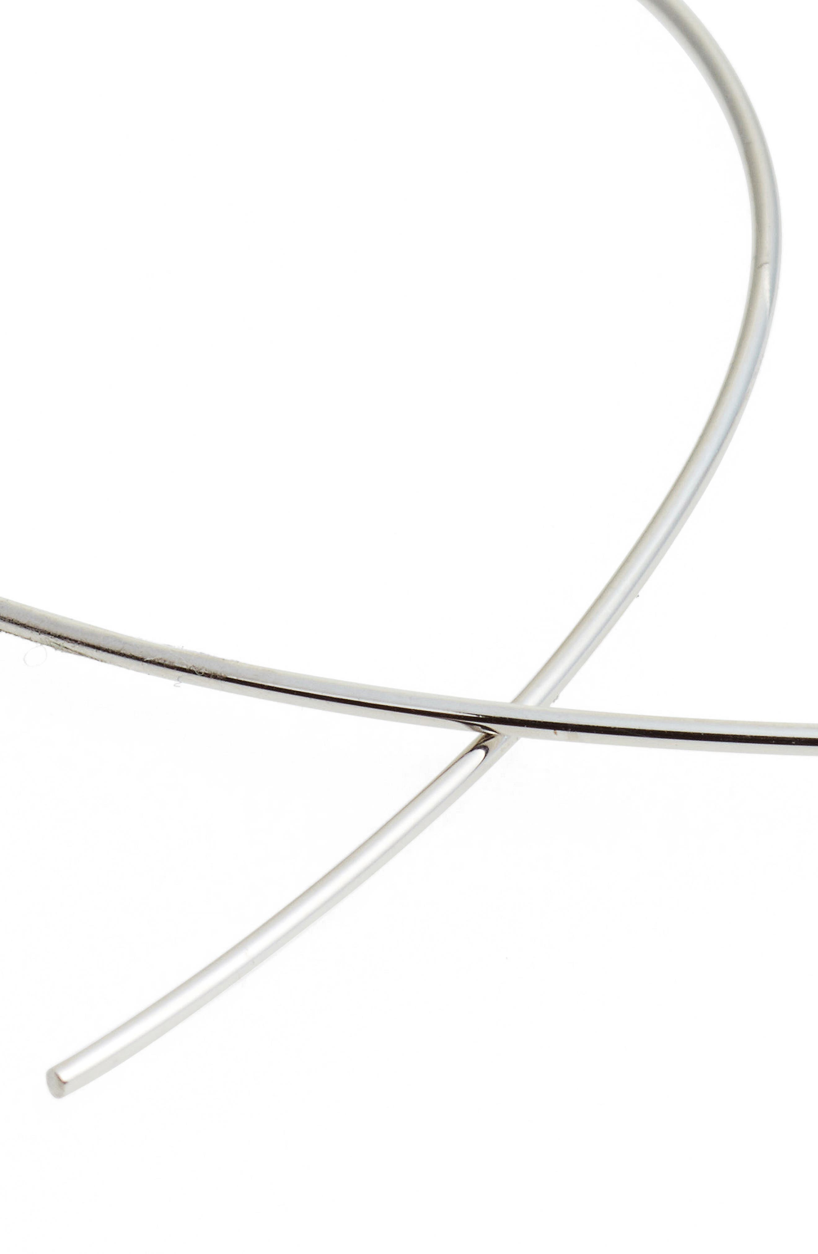 LANA JEWELRY, 'Upside Down' Small Hoop Earrings, Alternate thumbnail 4, color, WHITE GOLD