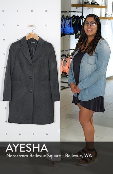 Wool Blend Reefer Coat, sales video thumbnail