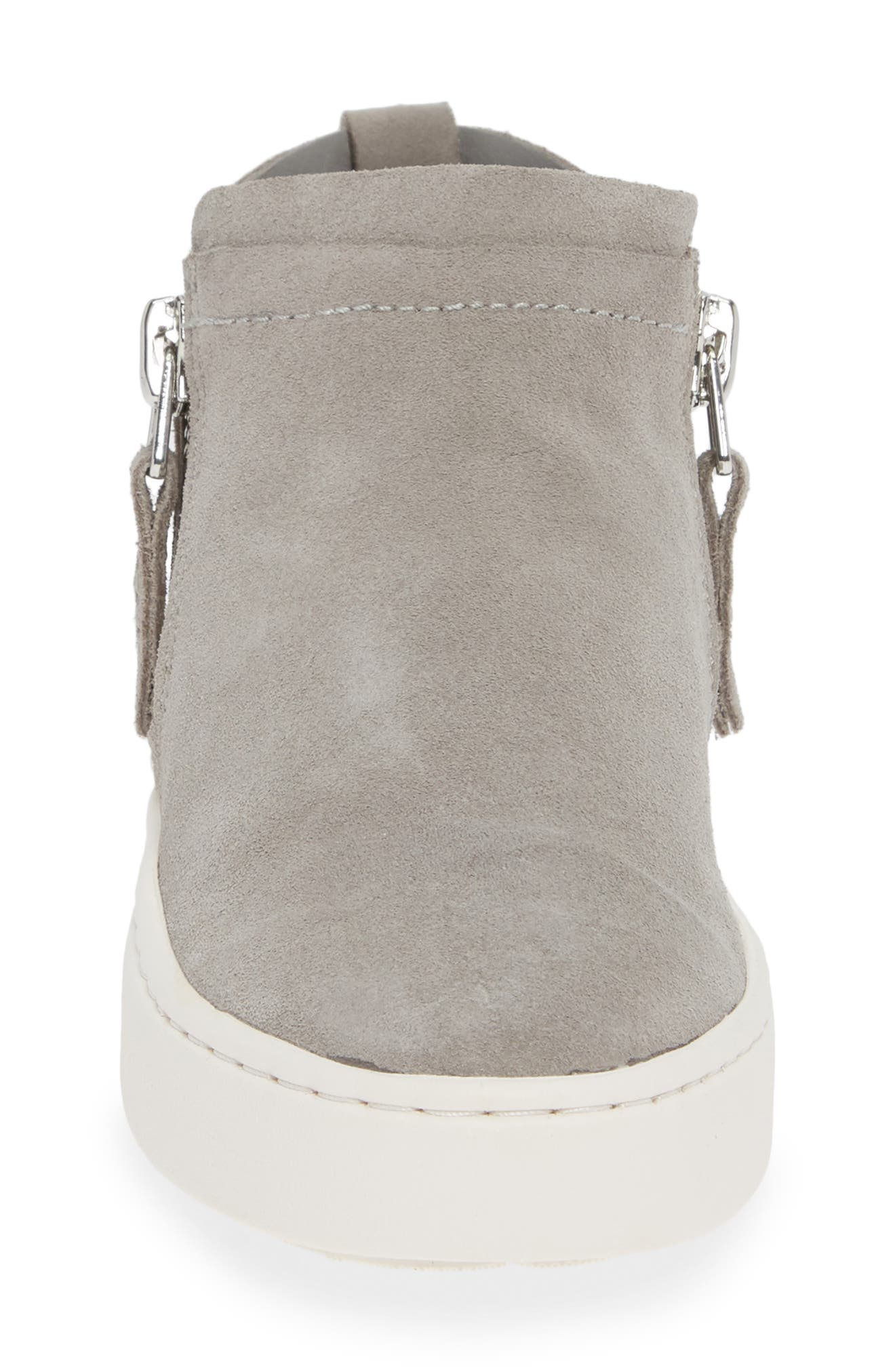 DOLCE VITA, Tobee Zip Sneaker, Alternate thumbnail 4, color, SMOKE SUEDE