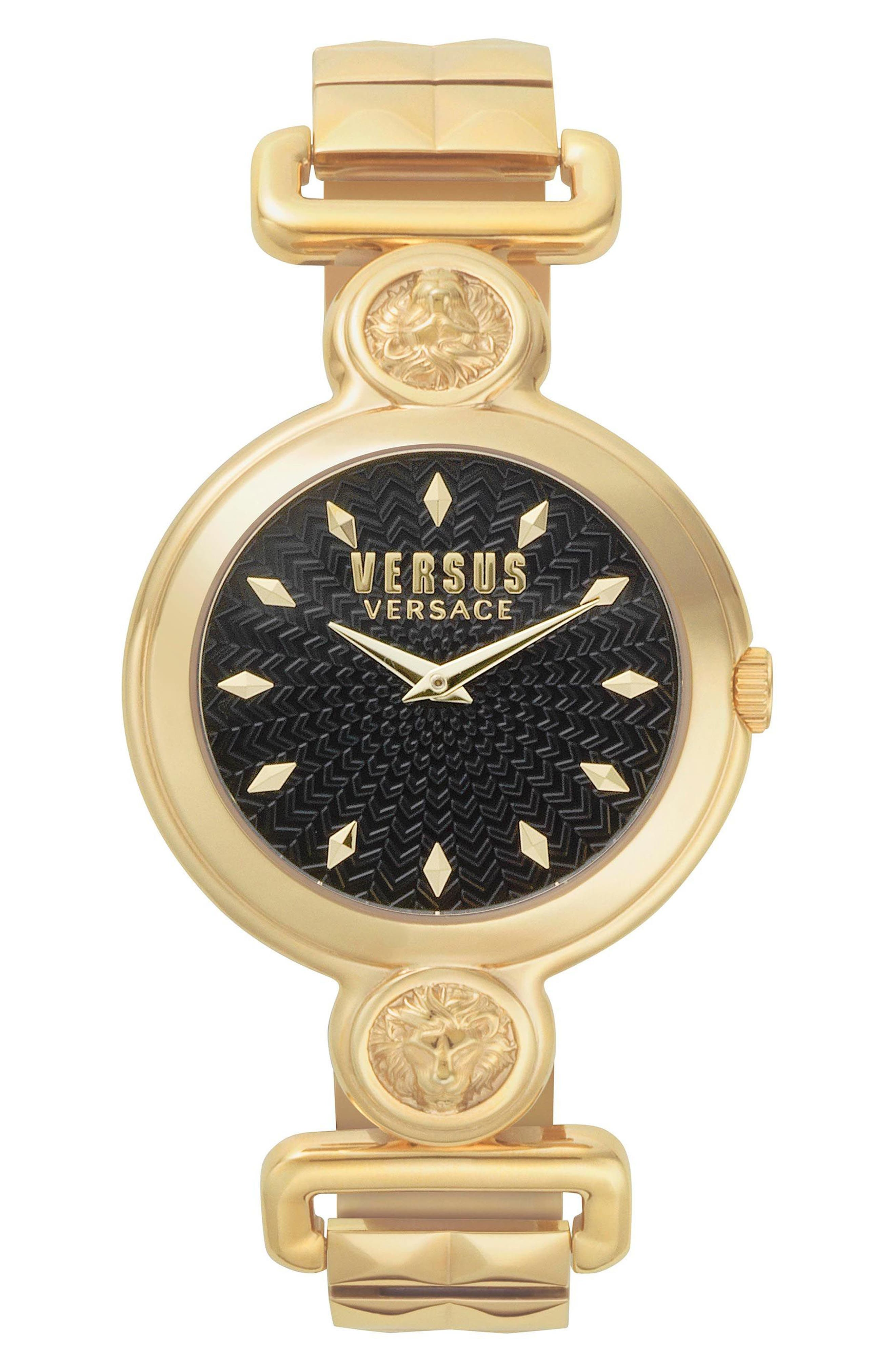 VERSUS VERSACE Sunnyridge Bracelet Watch, 34mm, Main, color, GOLD/ BLACK/ GOLD