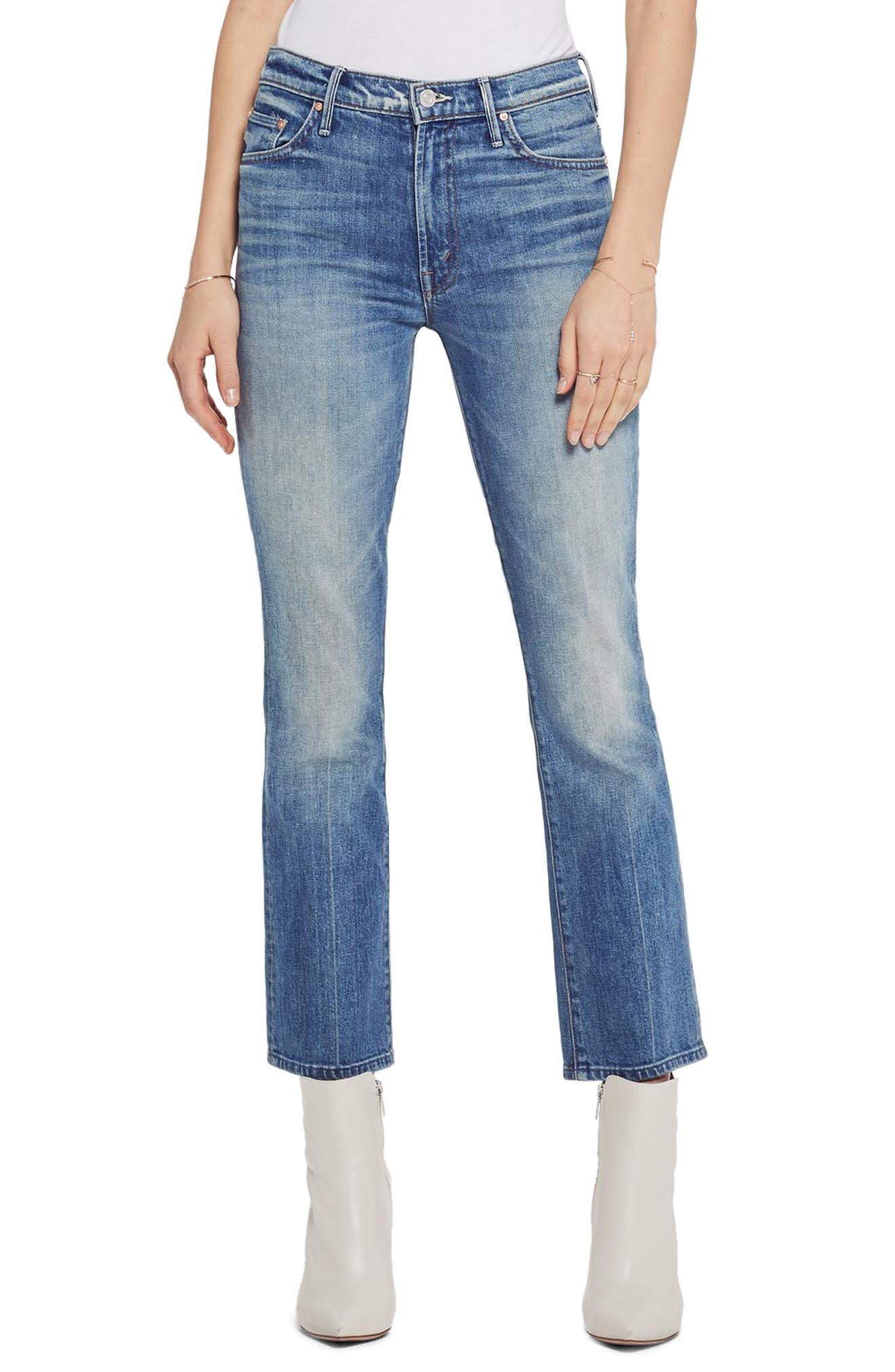 MOTHER, The Insider Ankle Bootcut Jeans, Main thumbnail 1, color, 421