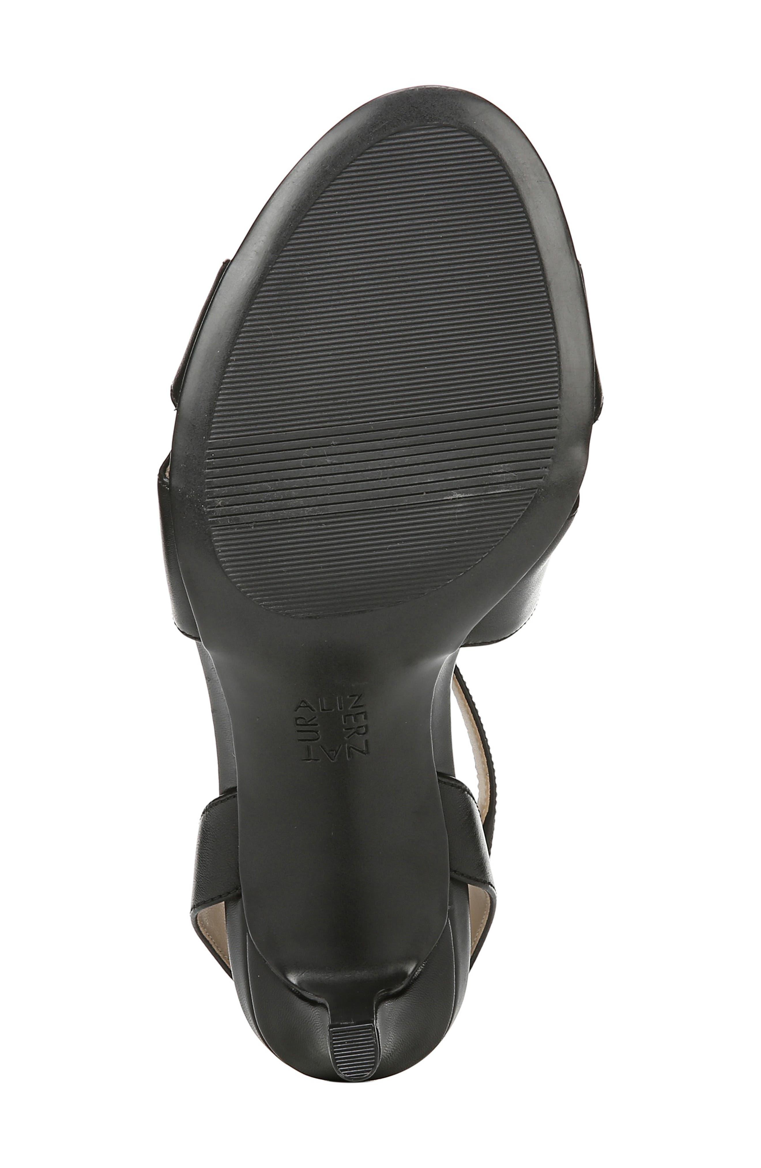 NATURALIZER, Klein Strappy Sandal, Alternate thumbnail 6, color, BLACK LEATHER