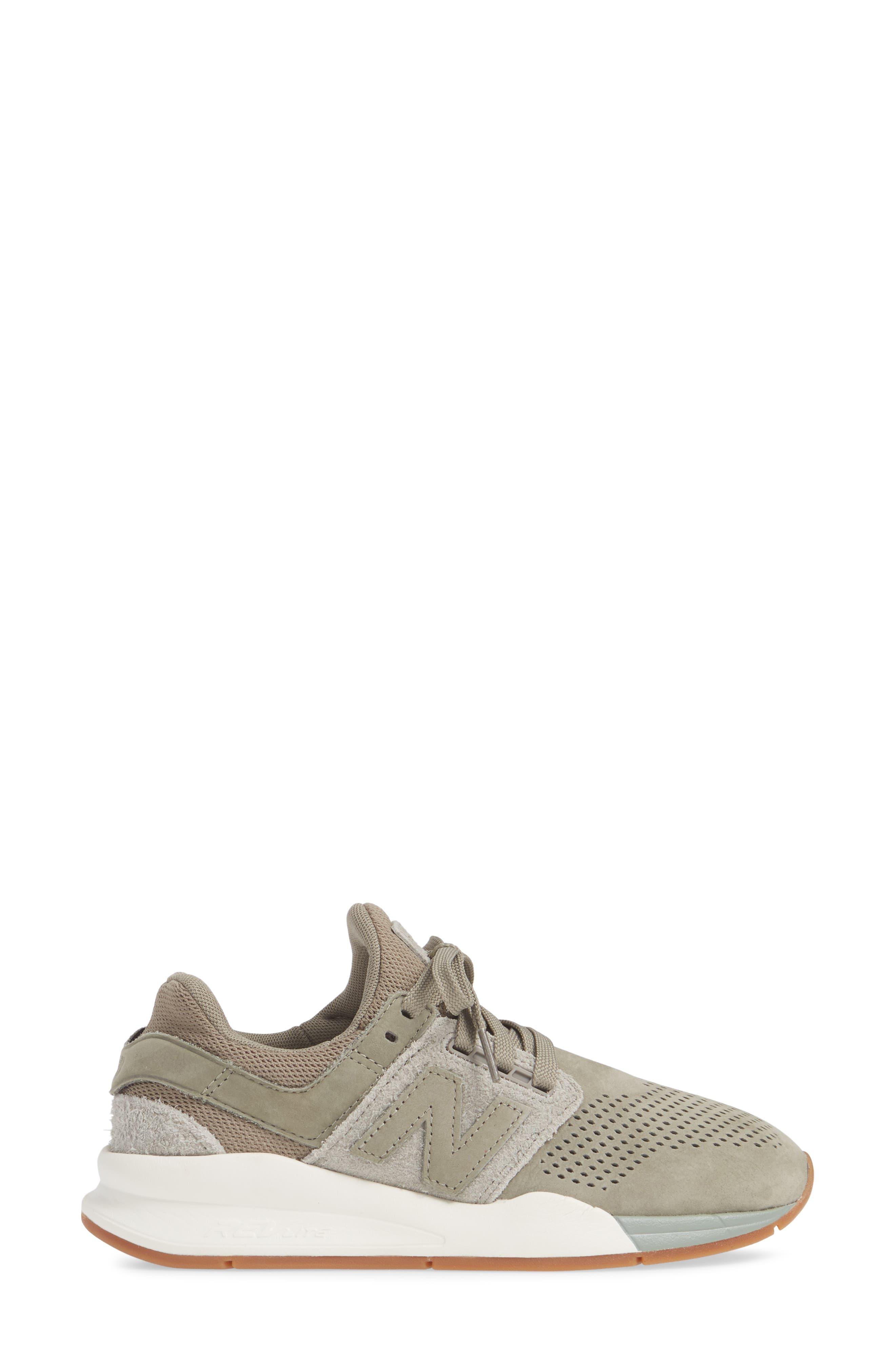 NEW BALANCE, Sport Style 247 Sneaker, Alternate thumbnail 3, color, MILITARY URBAN GREY