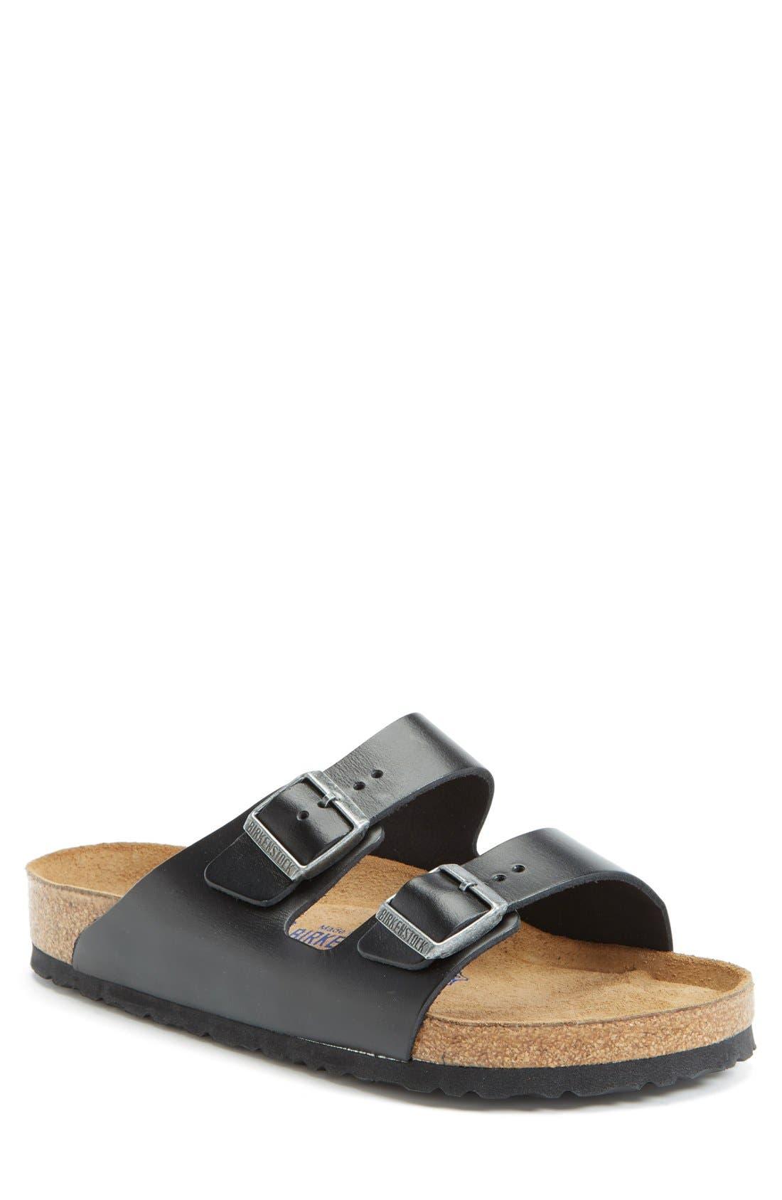 BIRKENSTOCK, 'Arizona Soft' Sandal, Main thumbnail 1, color, BLACK