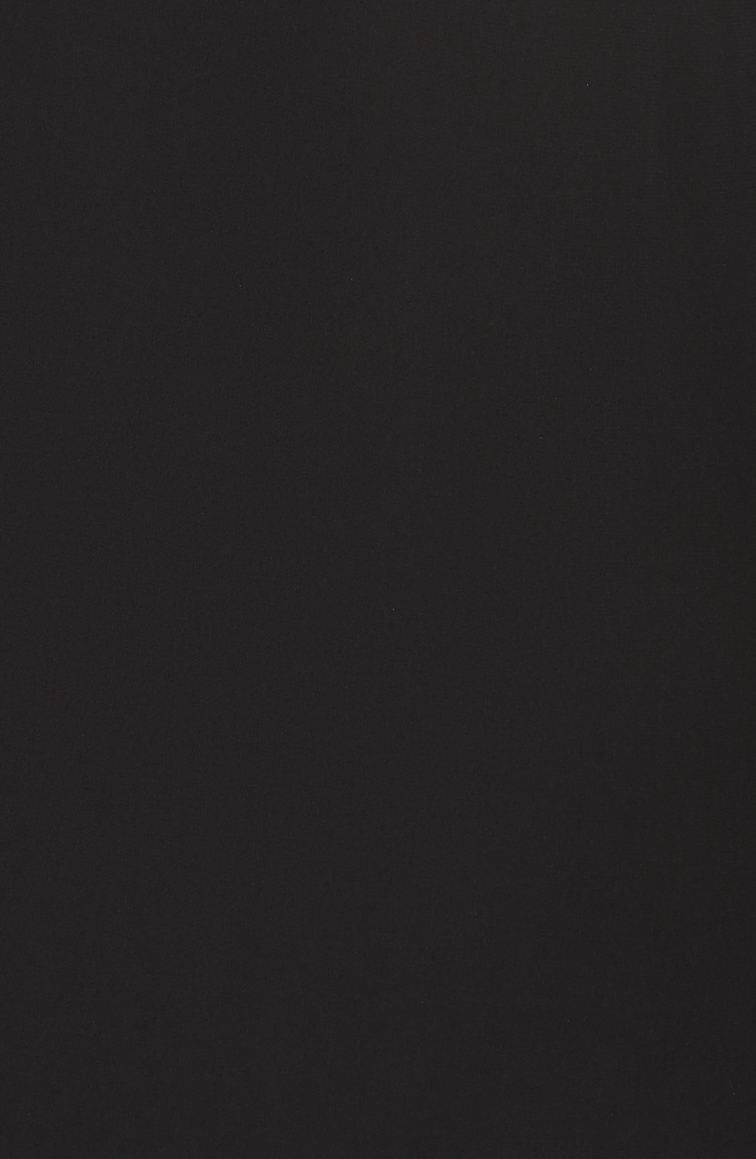XSCAPE, Cape Overlay Chiffon Gown, Alternate thumbnail 6, color, BLACK