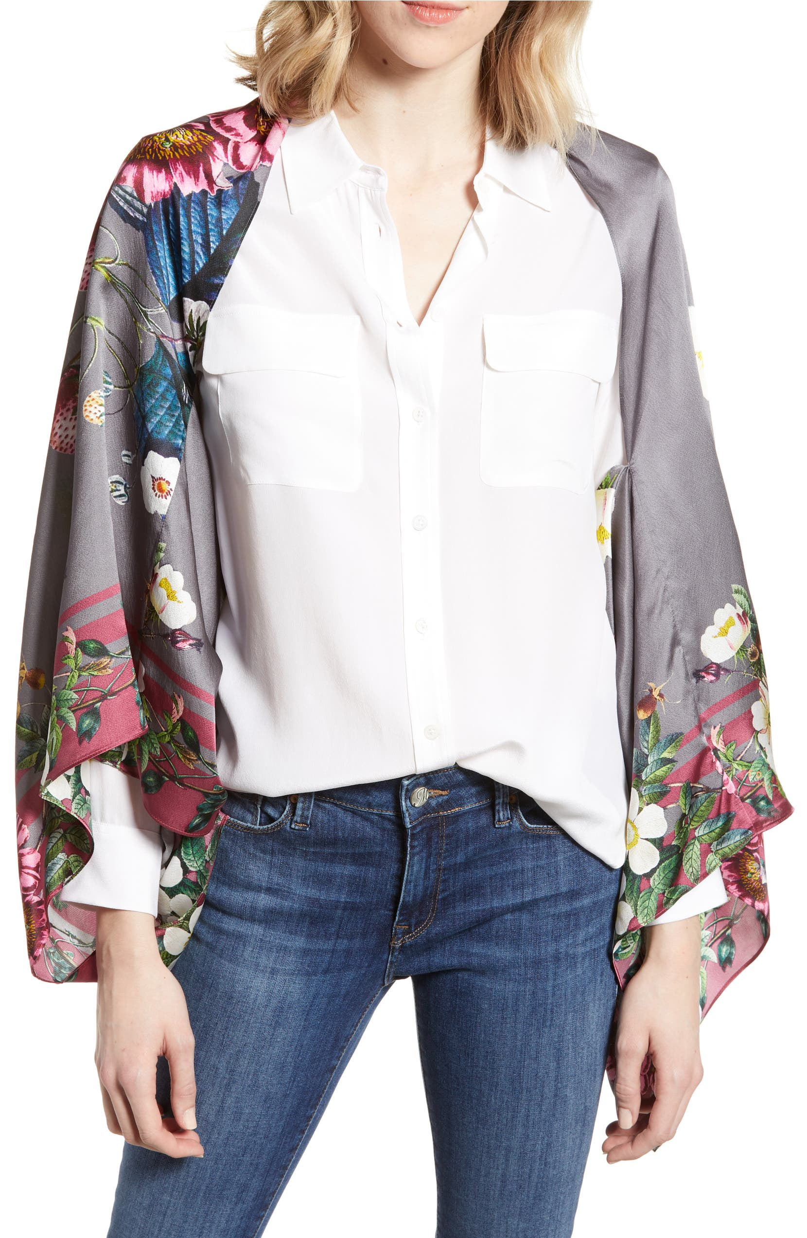 9a537ec6f Ted Baker London Oracle Floral Silk Cape Scarf
