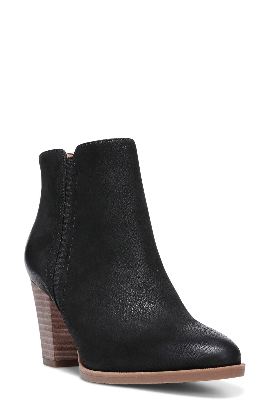 FRANCO SARTO 'Dipali' Block Heel Bootie, Main, color, 001