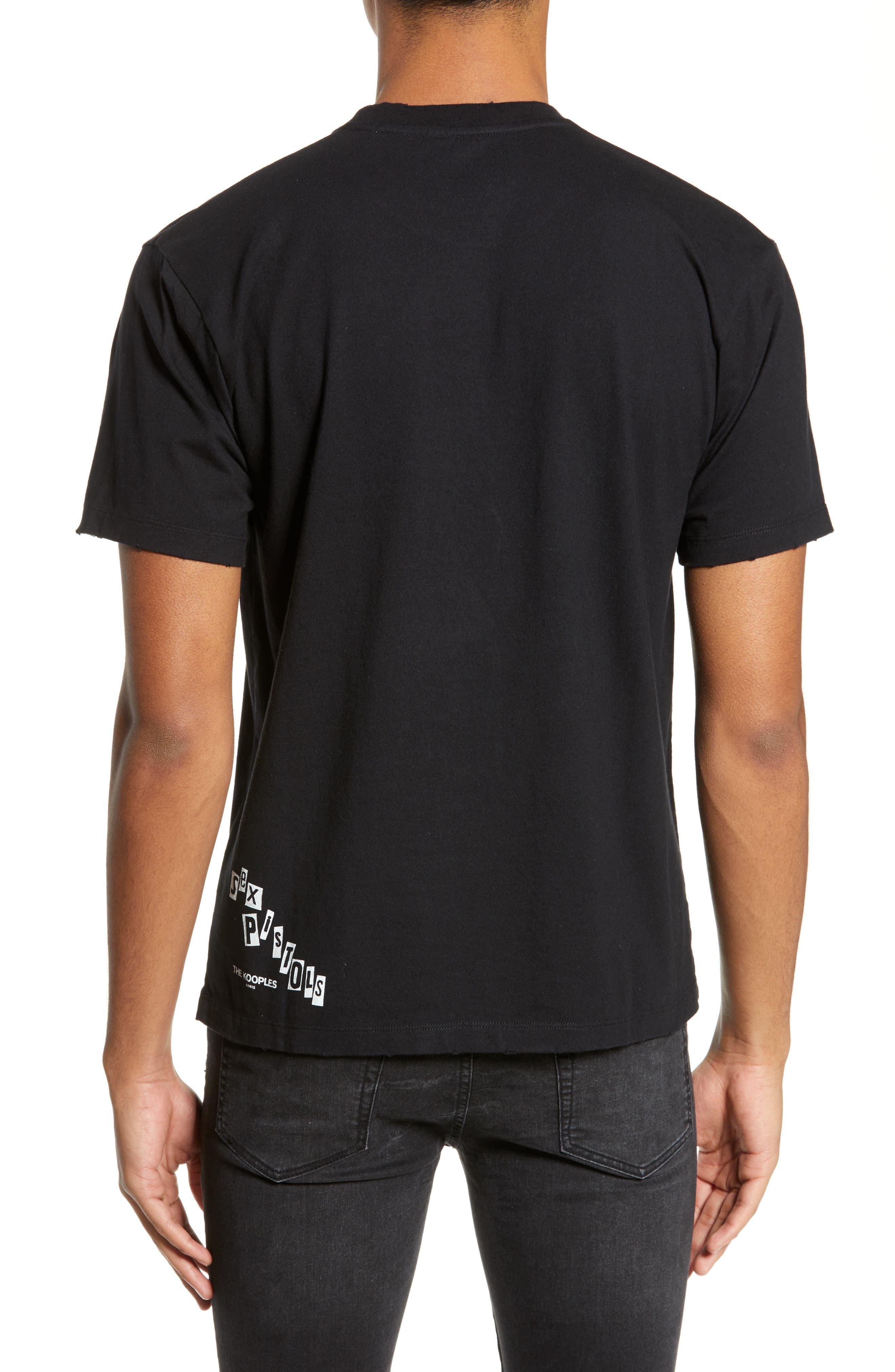 THE KOOPLES, Sex Pistols Graphic T-Shirt, Alternate thumbnail 2, color, 001