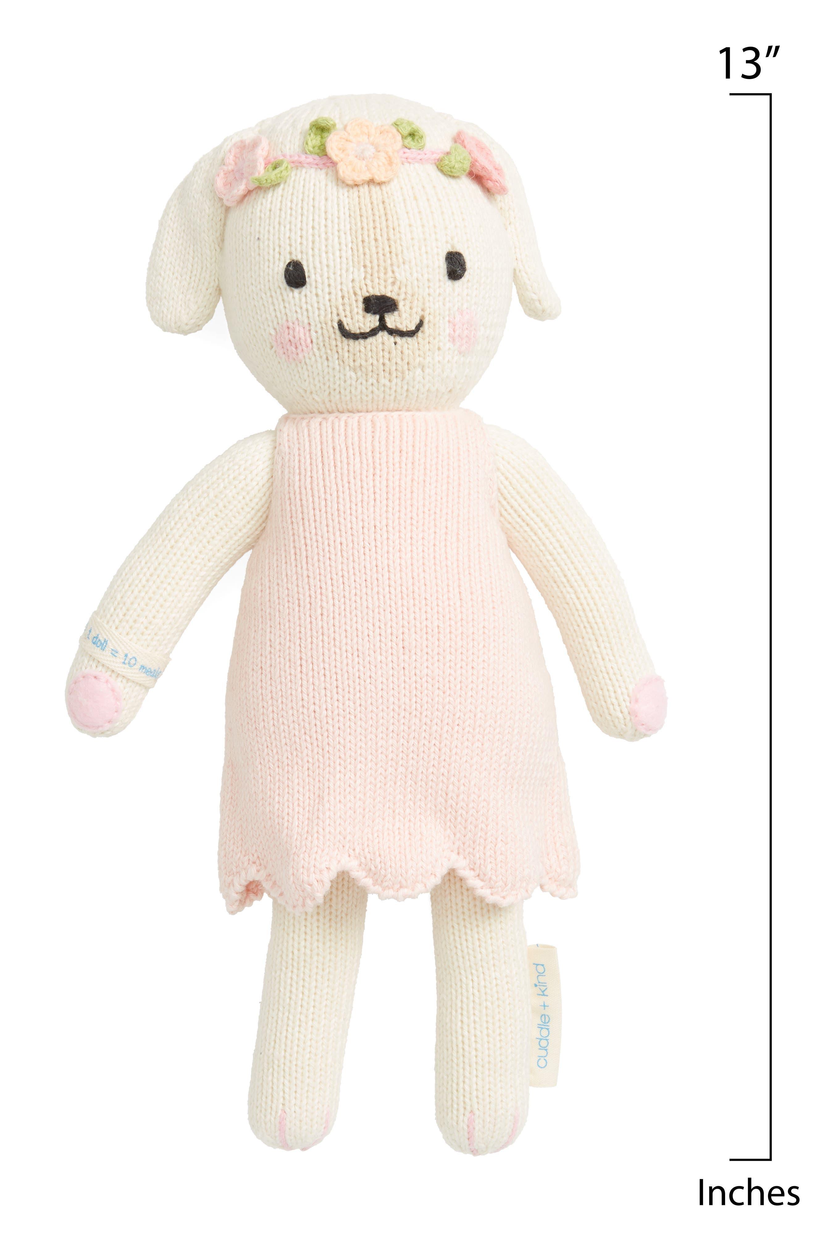 CUDDLE+KIND, cuddle + kind Dog Stuffed Animal, Alternate thumbnail 2, color, PINK
