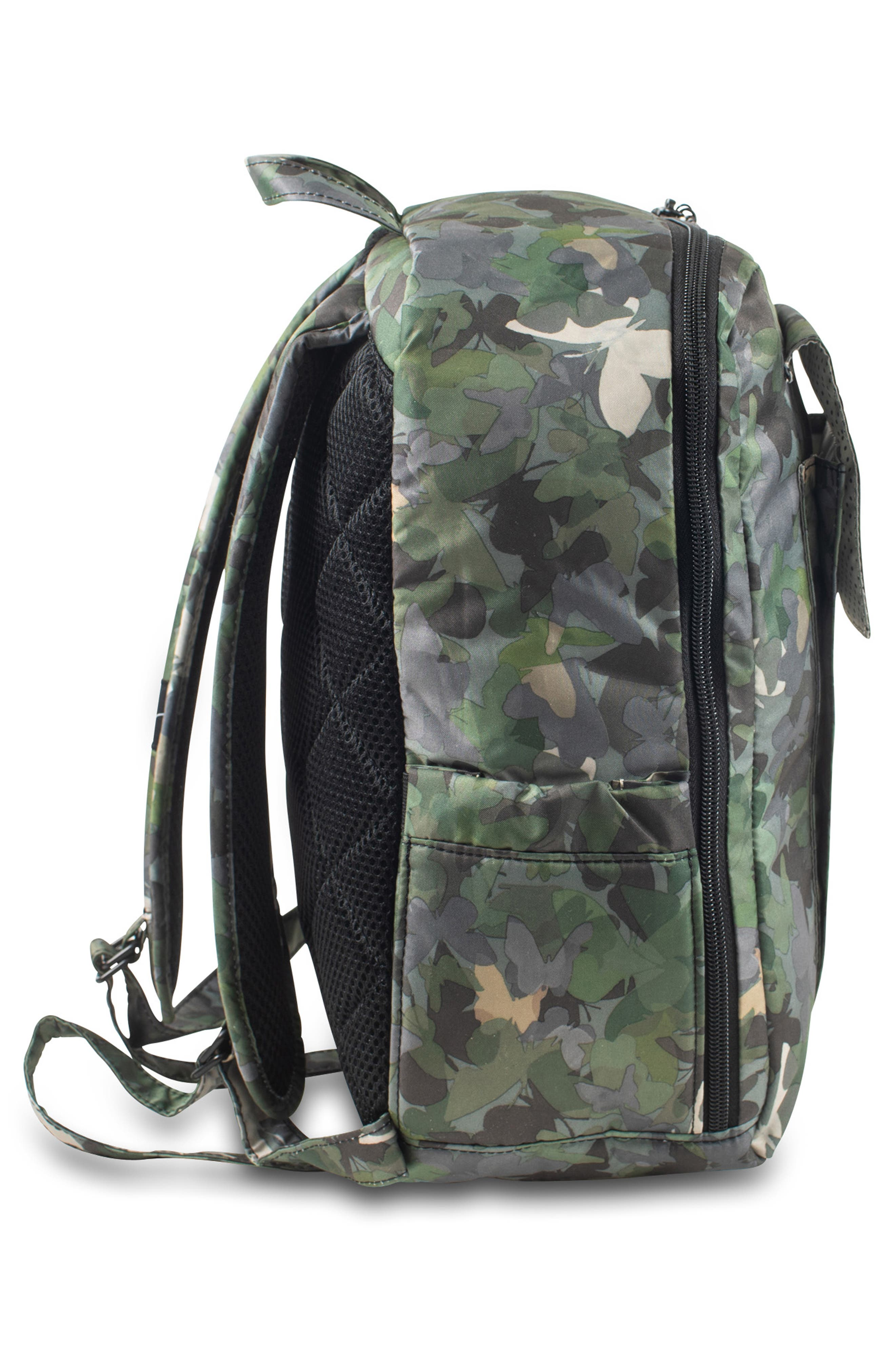 JU-JU-BE, 'Mini Be - Onyx Collection' Backpack, Alternate thumbnail 4, color, BUTTERFLY FOREST