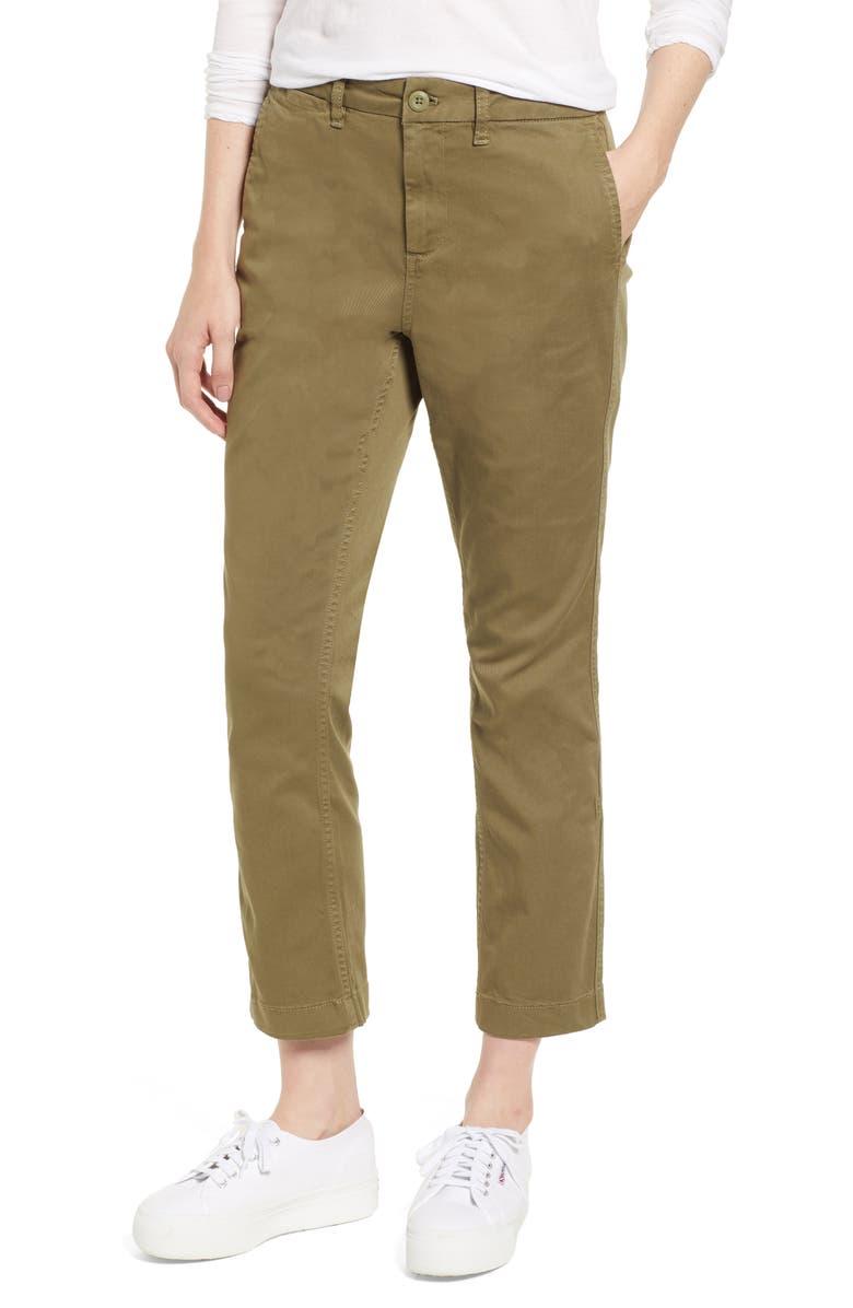 e8f01a0cb54d J.Crew High Rise Slim Boy Chino Pants (Regular & Petite) | Nordstrom