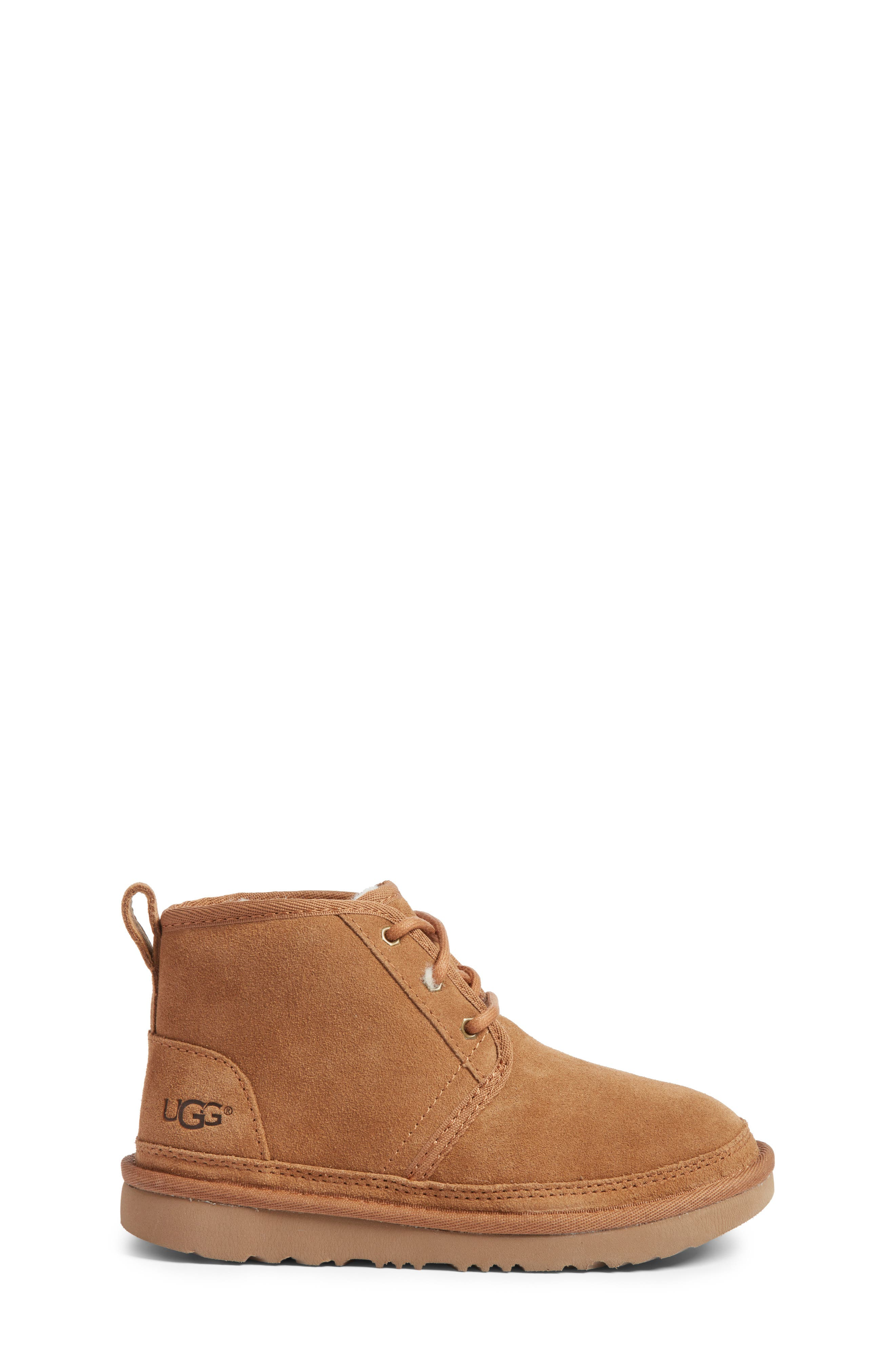 UGG<SUP>®</SUP>, Neumel II Water Resistant Chukka Boot, Alternate thumbnail 3, color, CHESTNUT BROWN
