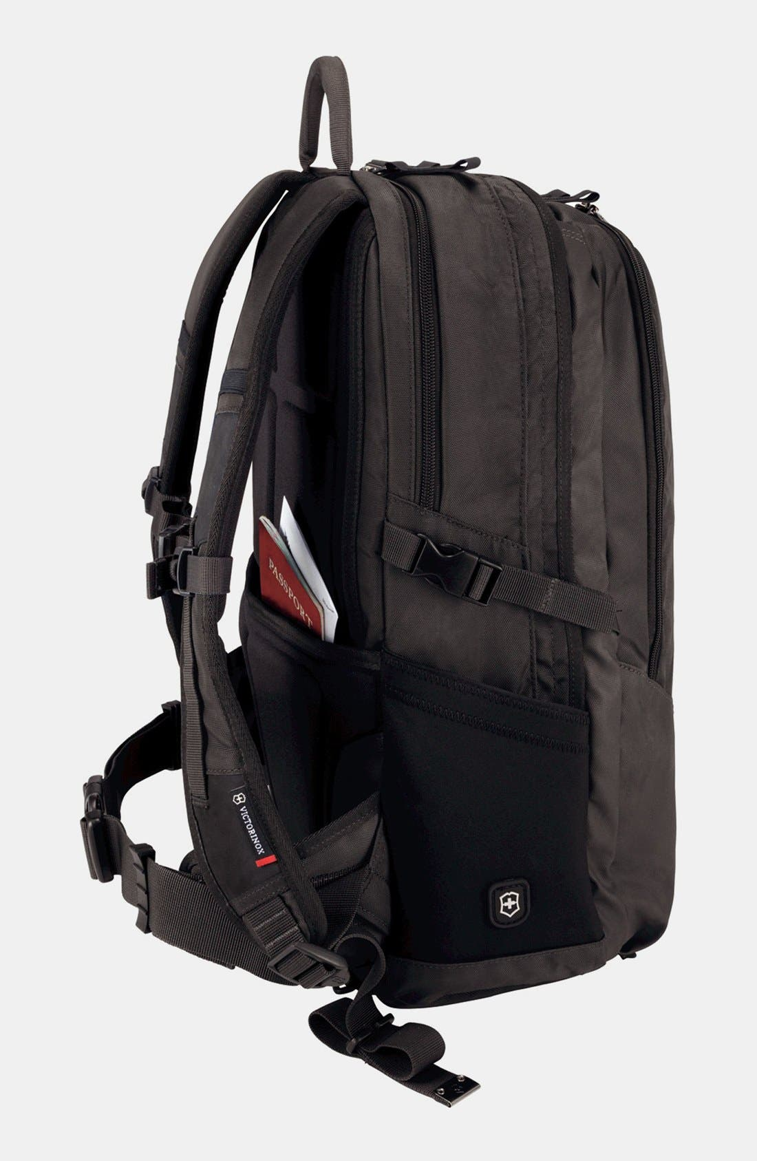 VICTORINOX SWISS ARMY<SUP>®</SUP>, Altmont Backpack, Alternate thumbnail 2, color, BLACK