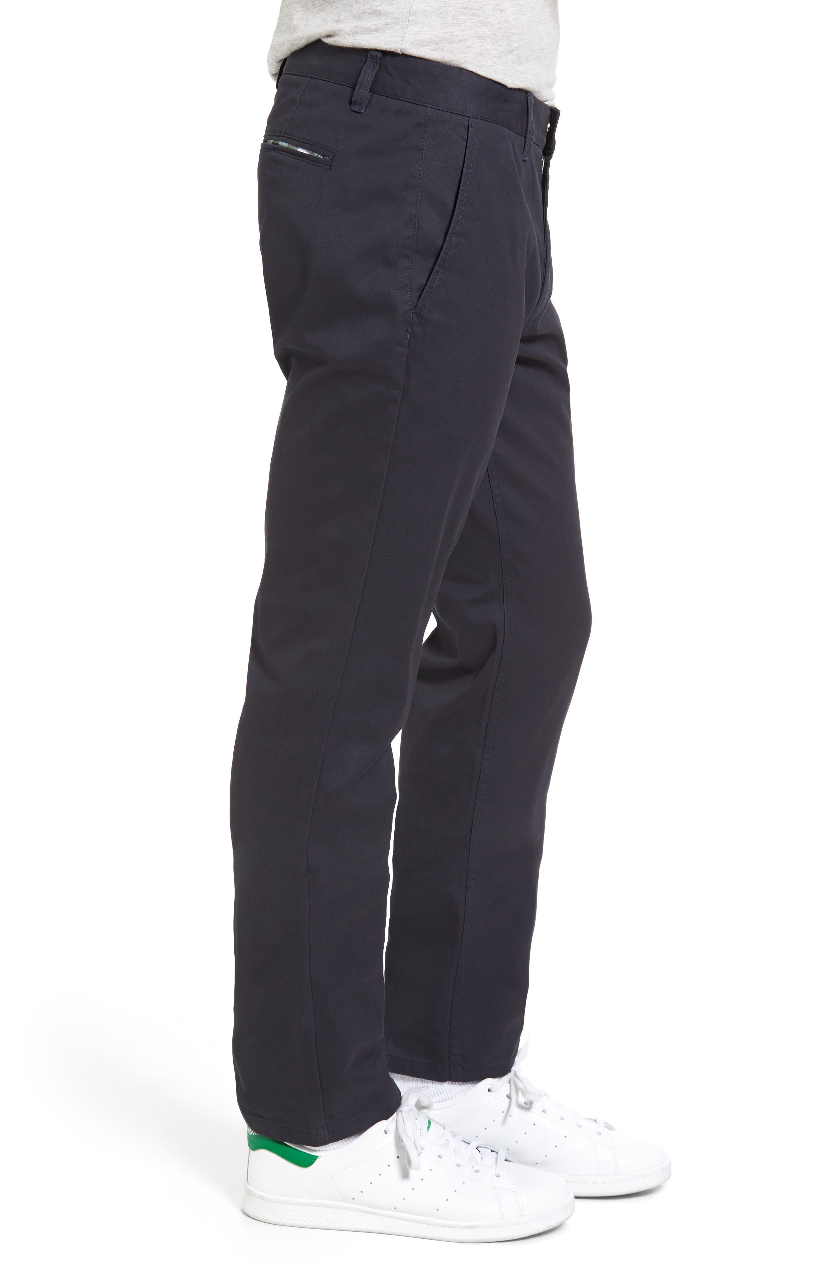 BONOBOS, Straight Fit Washed Chinos, Alternate thumbnail 4, color, JET BLUE
