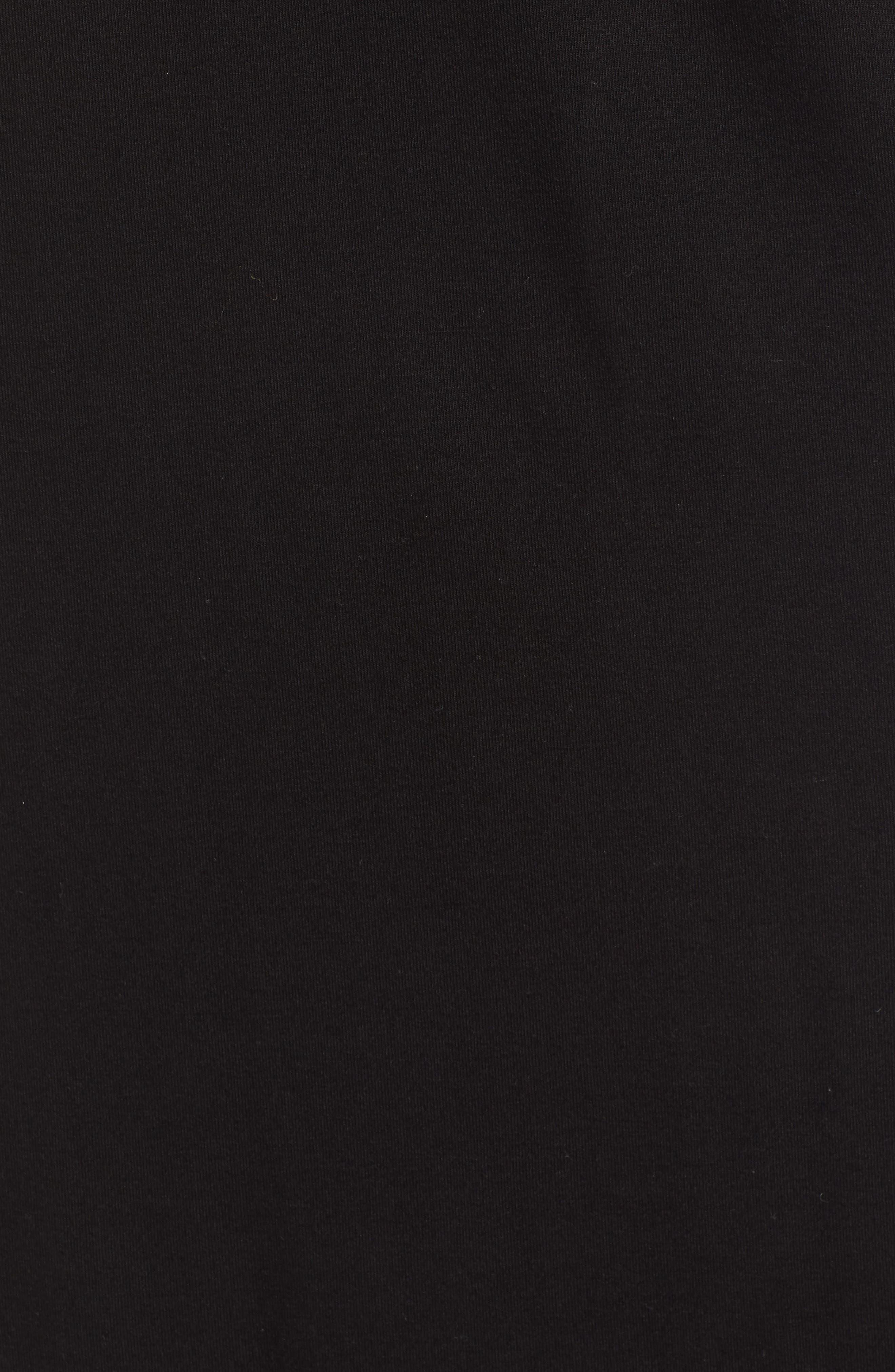 CASLON<SUP>®</SUP>, Drawstring Jersey Maxi Dress, Alternate thumbnail 7, color, 001