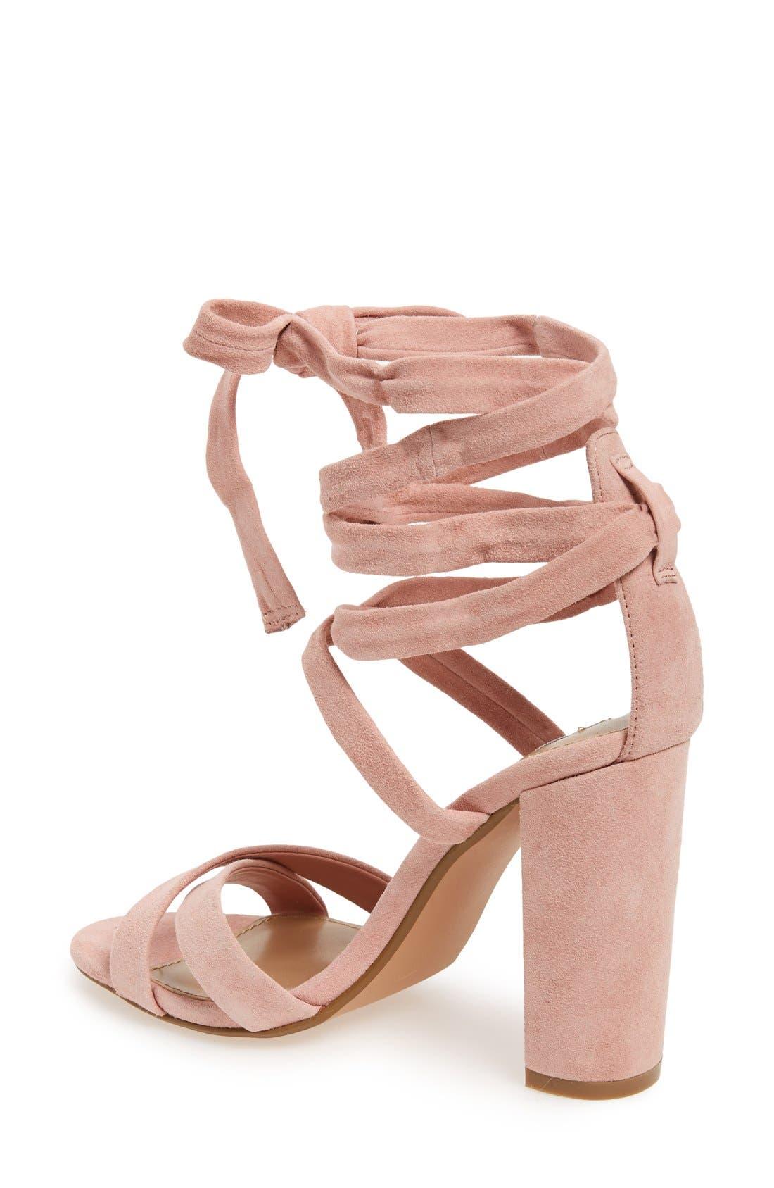 STEVE MADDEN, 'Christey' Wraparound Ankle Tie Sandal, Alternate thumbnail 2, color, 650