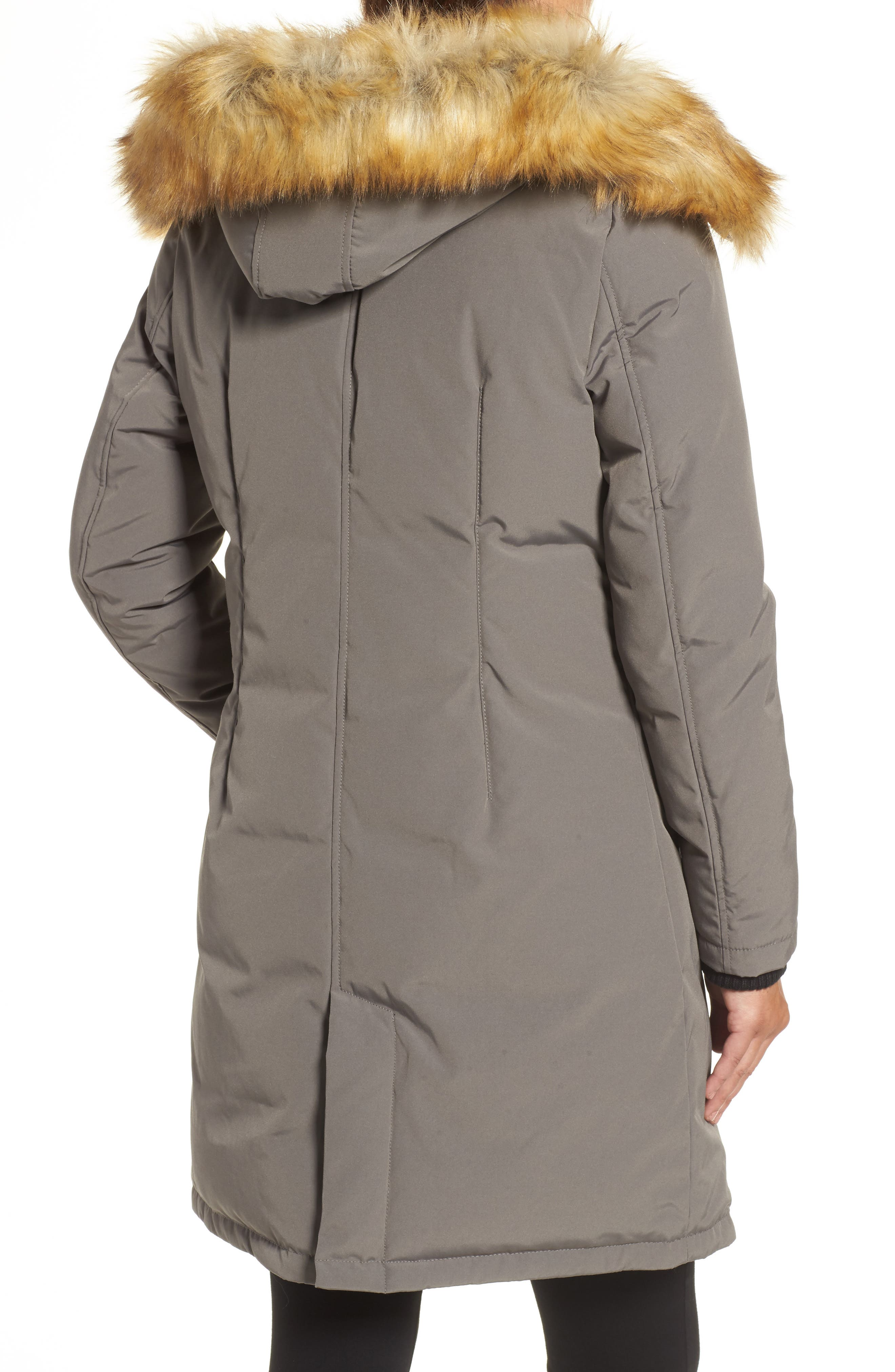 VINCE CAMUTO, Down & Feather Fill Parka with Faux Fur Trim, Alternate thumbnail 2, color, 020
