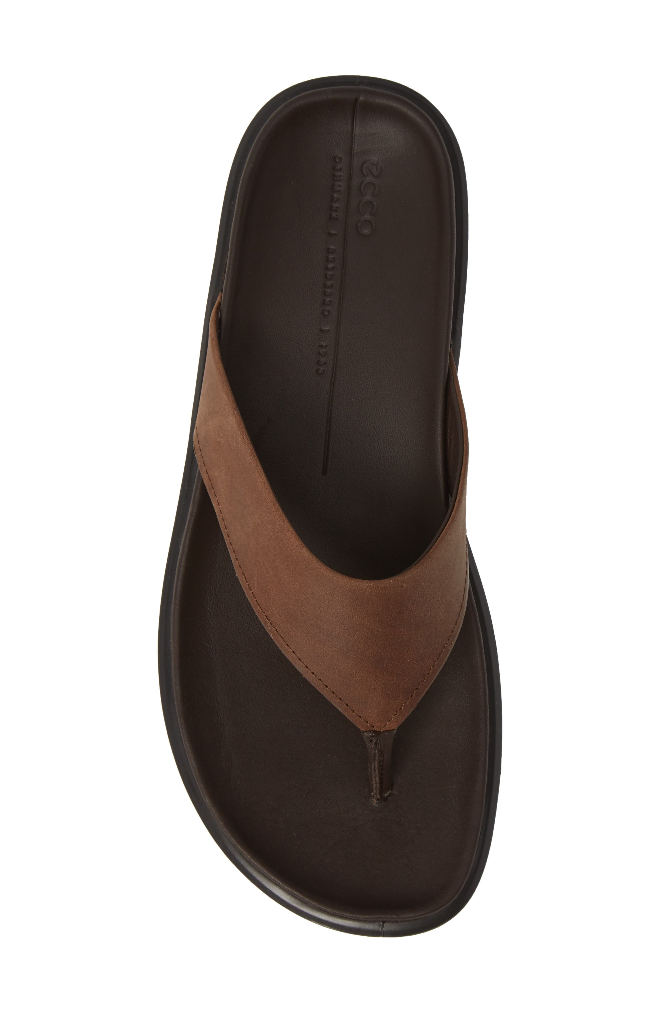 ECCO, Flowt LX Flip Flop, Alternate thumbnail 5, color, COCOA BROWN OILED NUBUCK