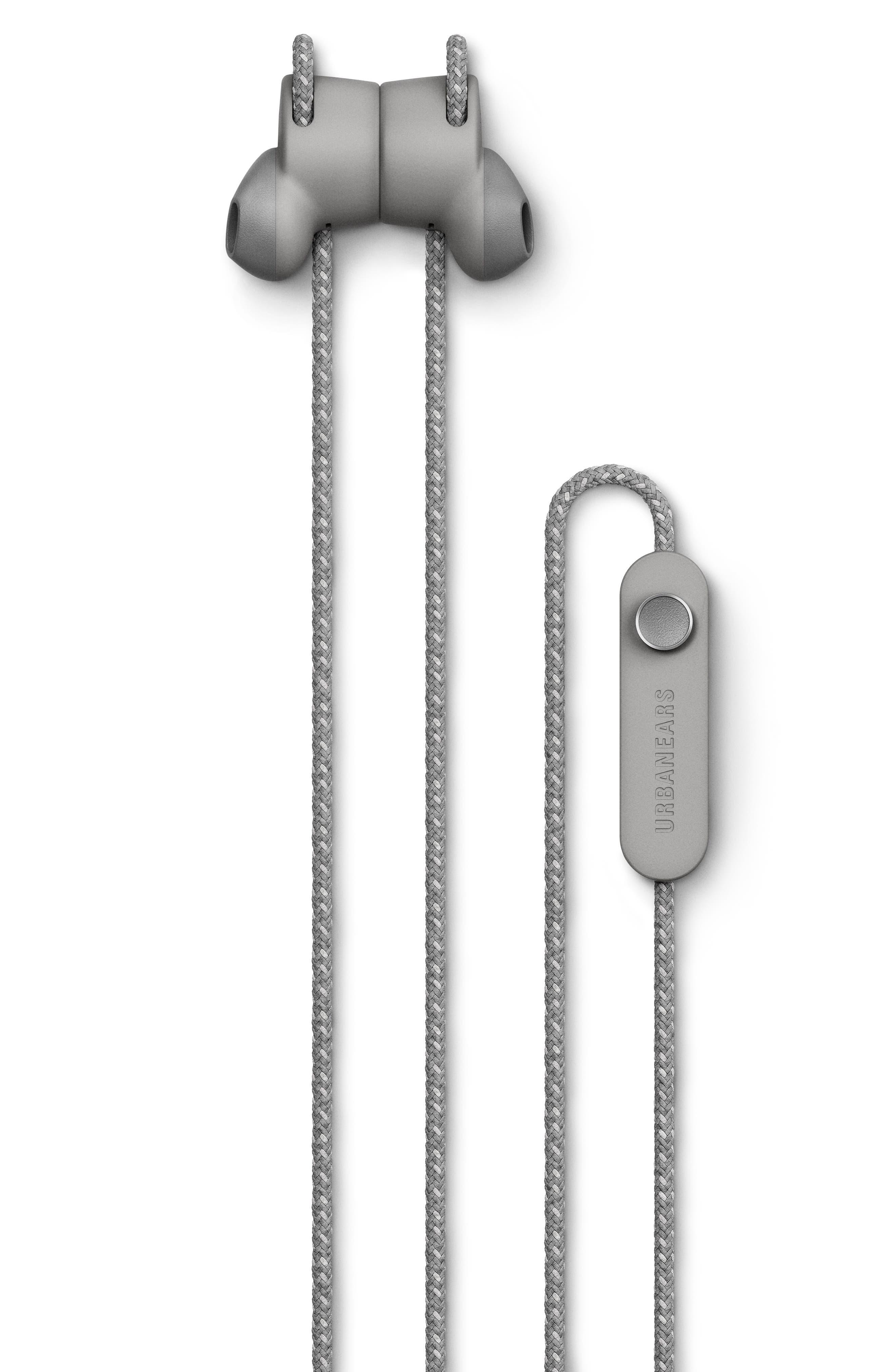 URBANEARS, Jakan Wireless Bluetooth In-Ear Headphones, Alternate thumbnail 4, color, ASH GREY