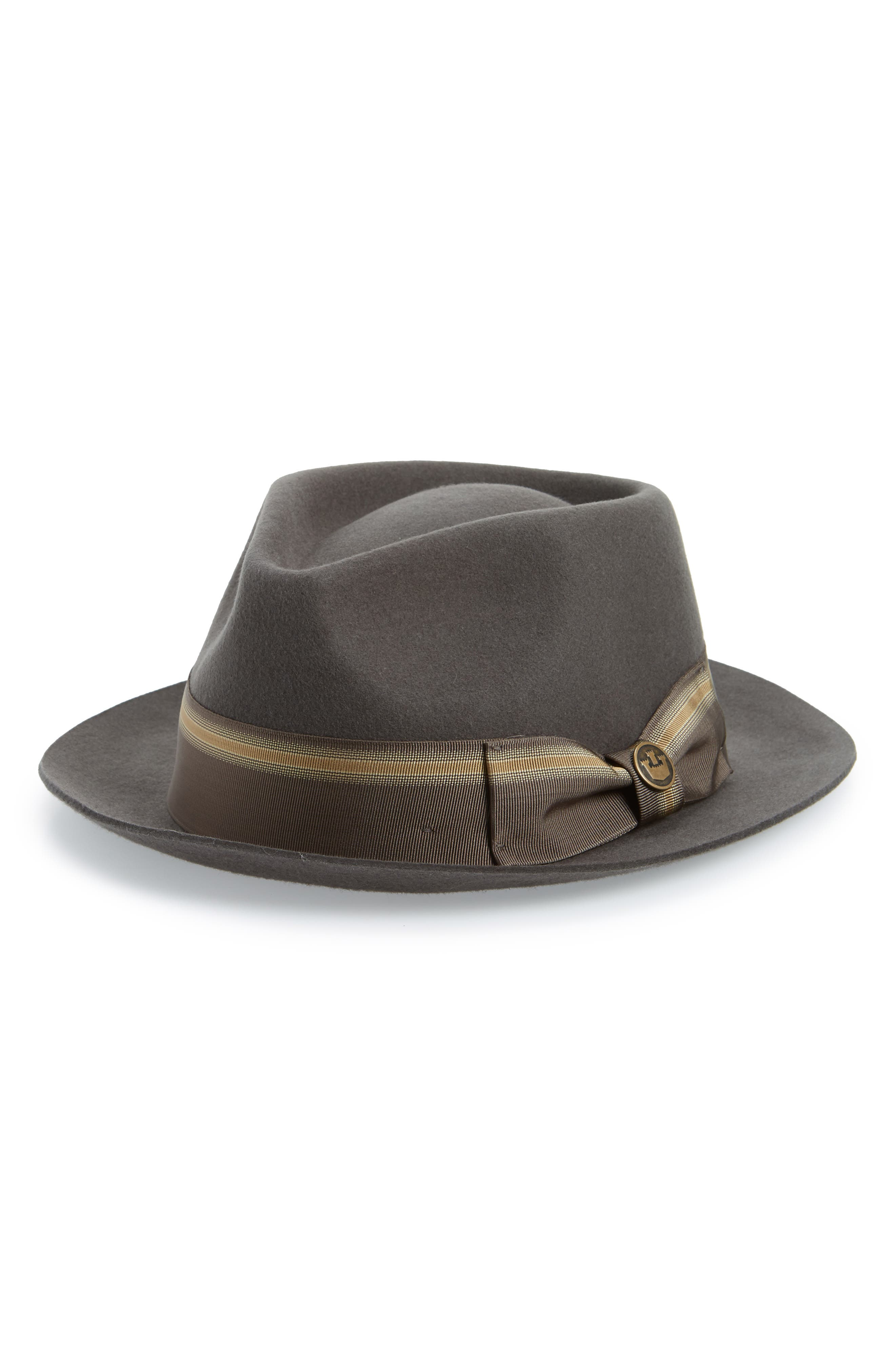 GOORIN BROTHERS Star Boy Fedora, Main, color, GRAY