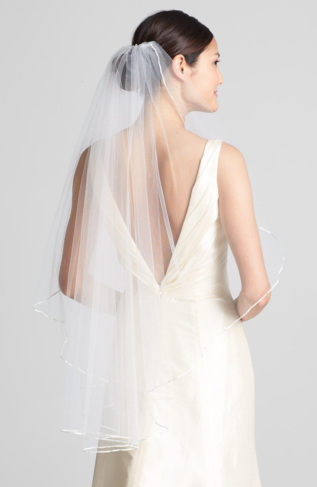 WEDDING BELLES NEW YORK, 'Mable' Veil, Main thumbnail 1, color, IVORY