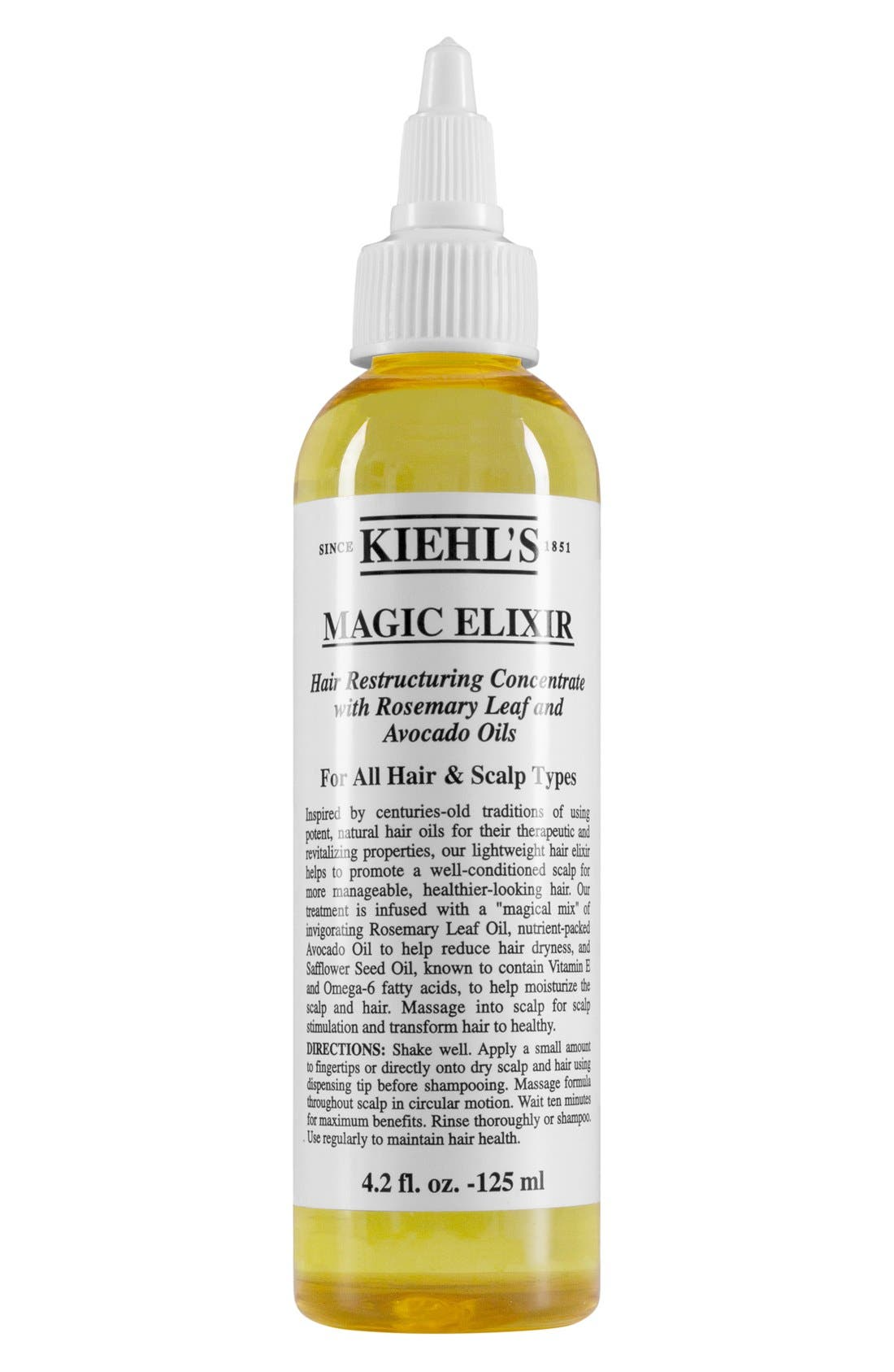 KIEHL'S SINCE 1851 Magic Elixir Hair Restructuring Concentrate, Main, color, NO COLOR