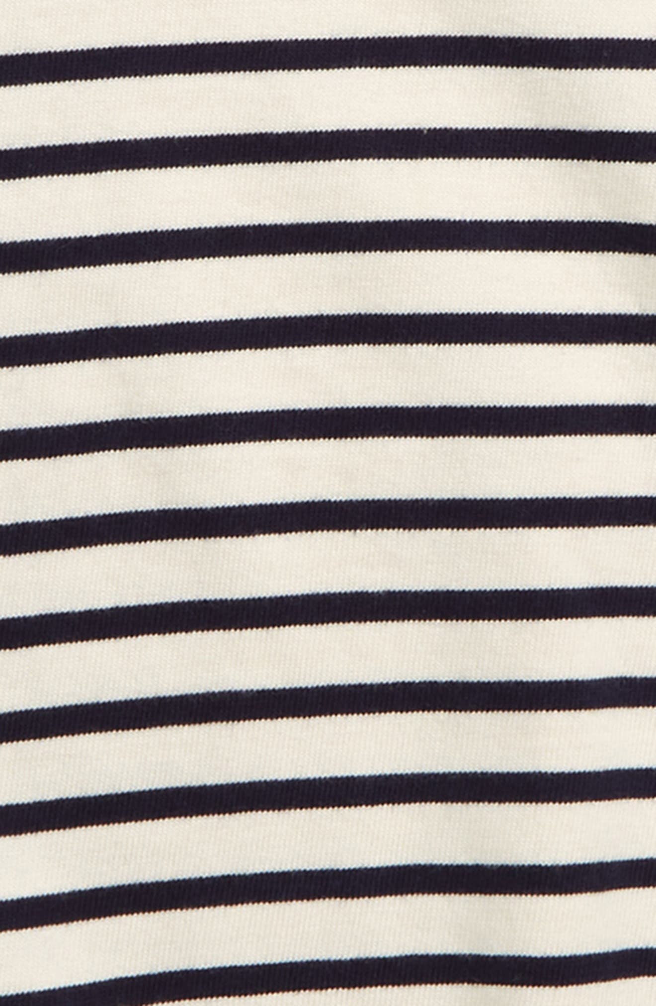 TREASURE & BOND, Puff Sleeve Top, Alternate thumbnail 2, color, IVORY ANTIQUE- NAVY BRETON