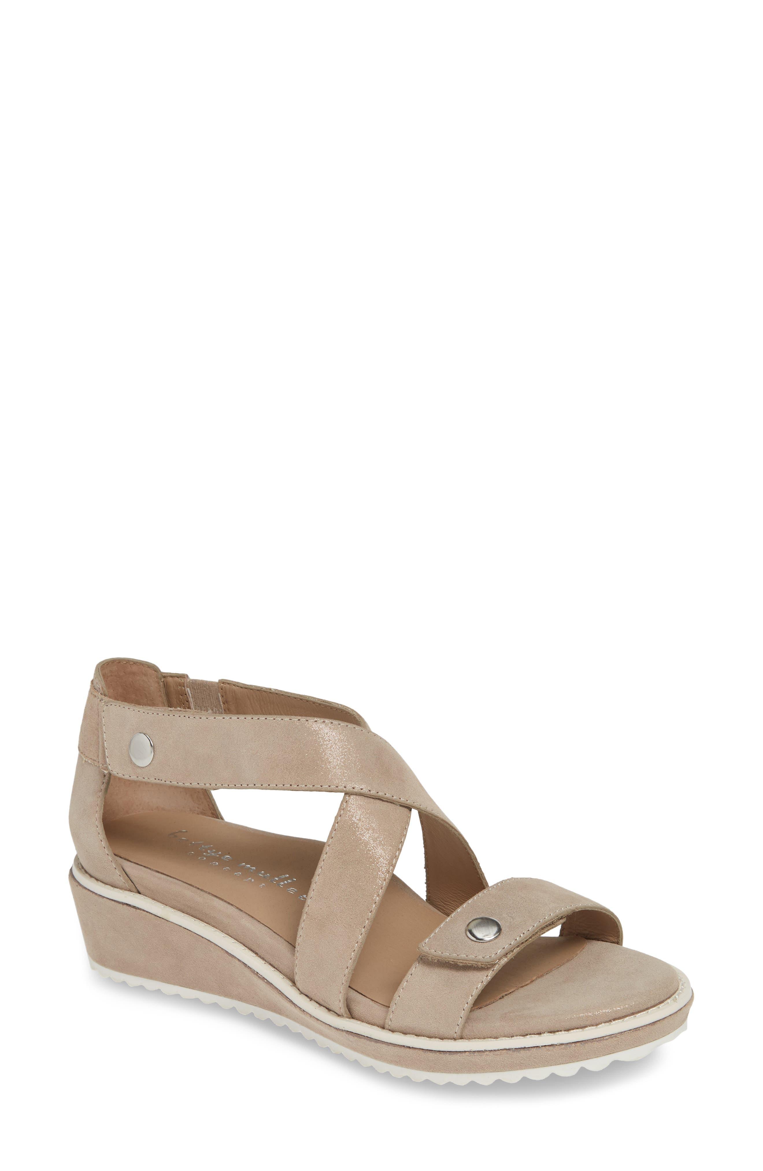 Bettye Muller Concepts Tobi Wedge Sandal, Beige