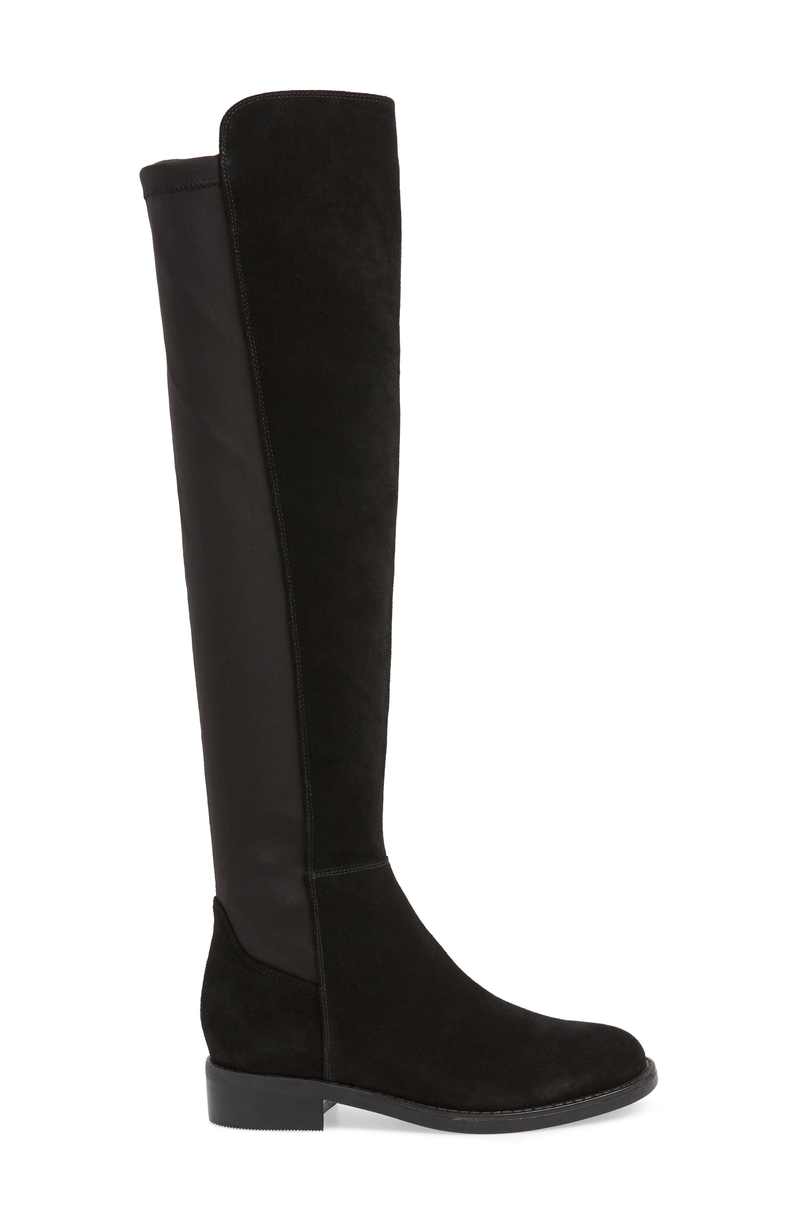 BLONDO, Danny Over the Knee Waterproof Boot, Alternate thumbnail 3, color, 001