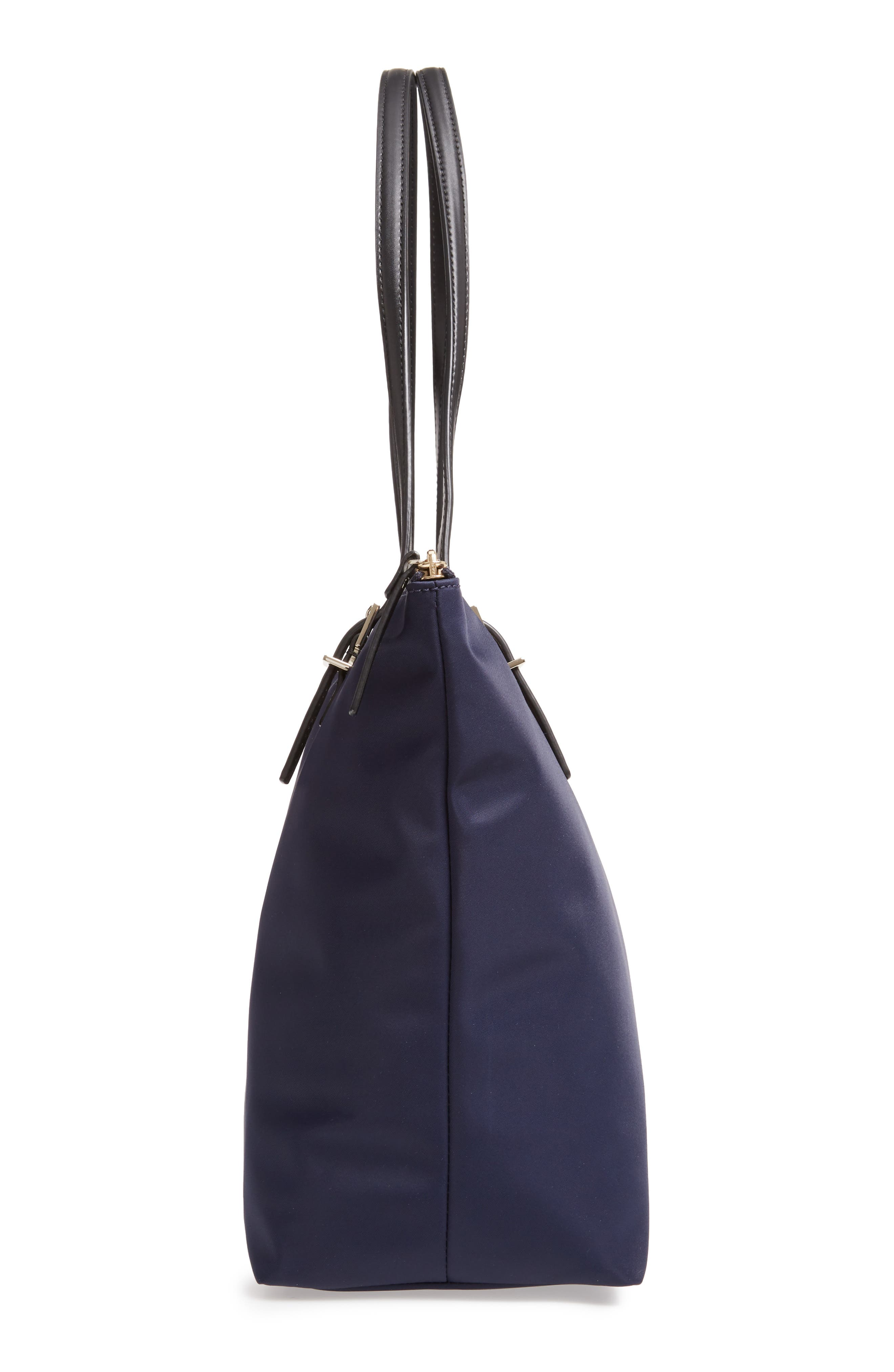 KATE SPADE NEW YORK, watson lane maya nylon tote, Alternate thumbnail 5, color, RICH NAVY