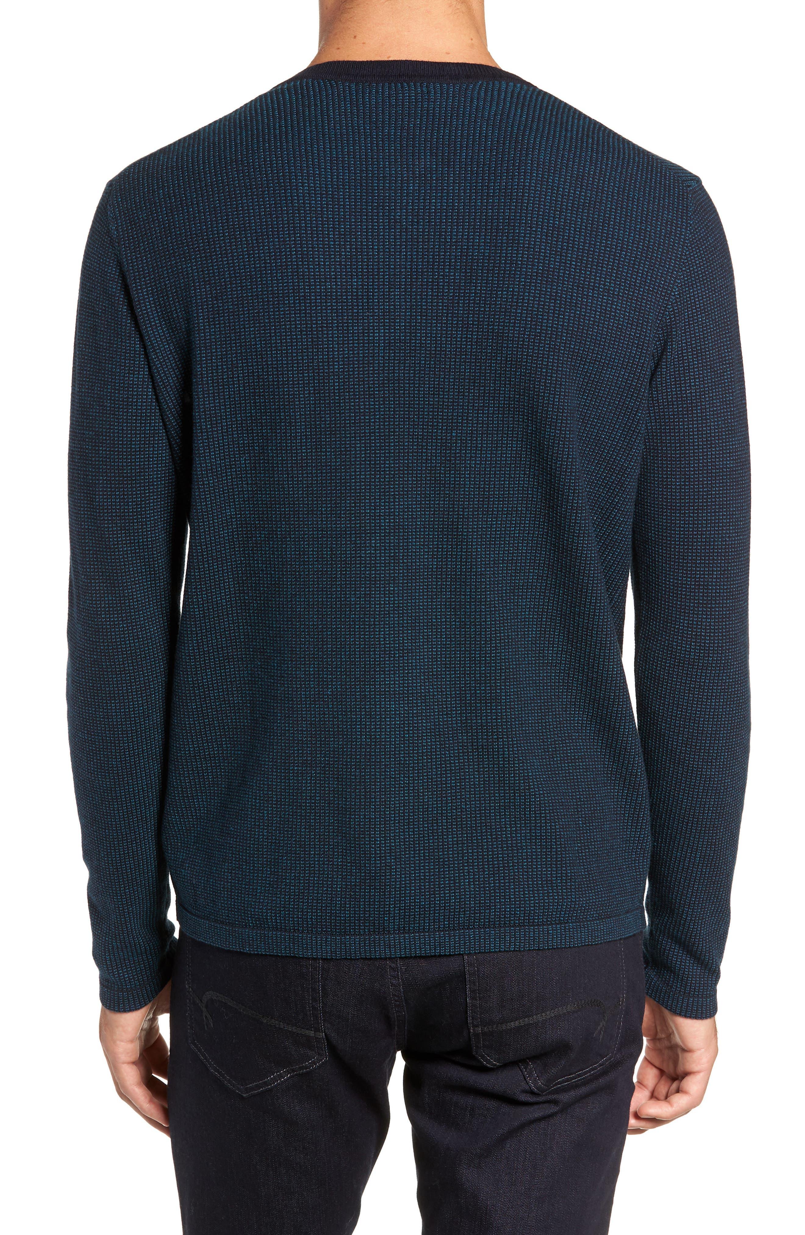 ZACHARY PRELL, Kimball Henley Sweater, Alternate thumbnail 2, color, EMERALD