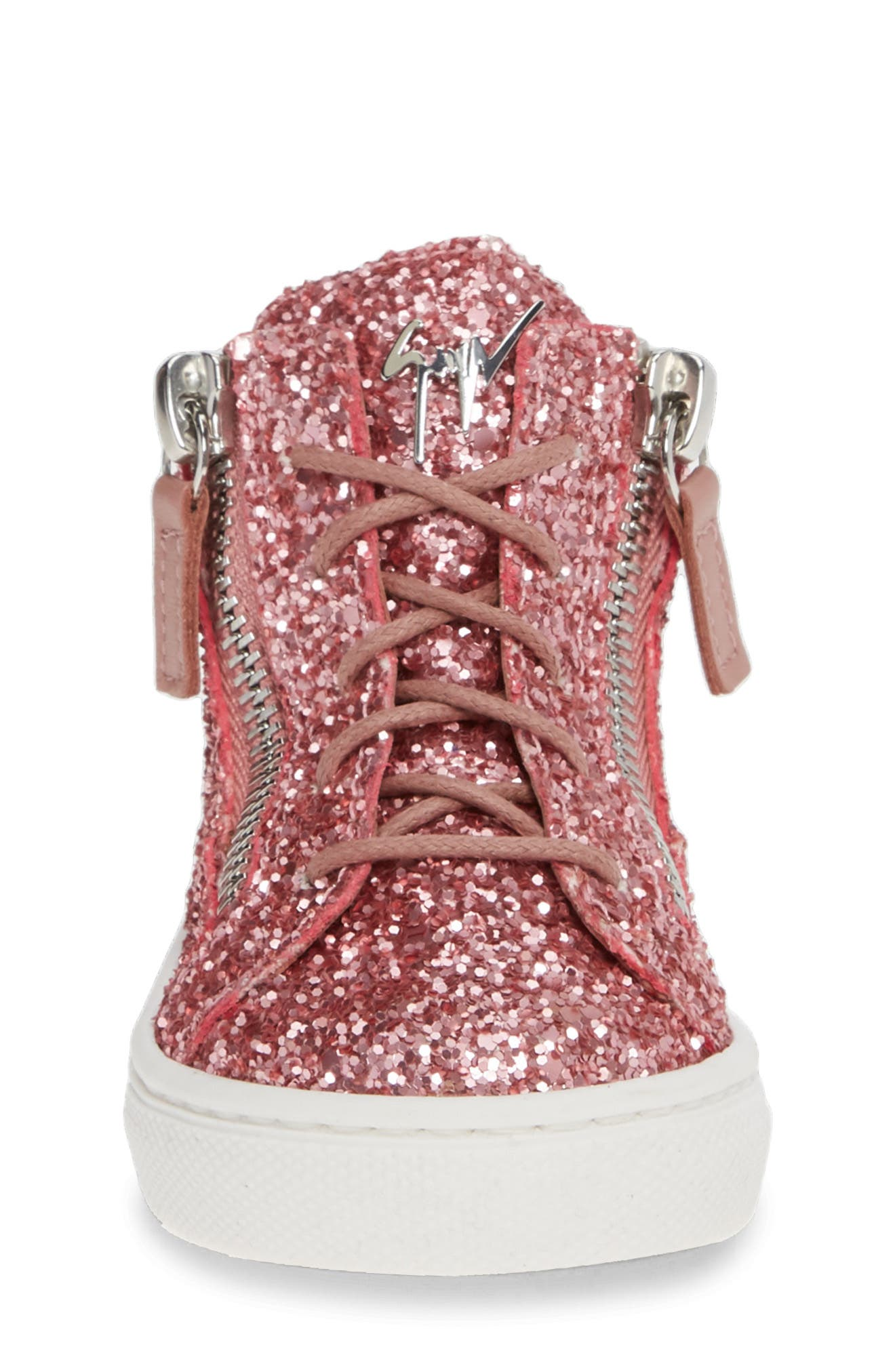 GIUSEPPE ZANOTTI, Natalie High Top Sneaker, Alternate thumbnail 4, color, LIPGLOSS
