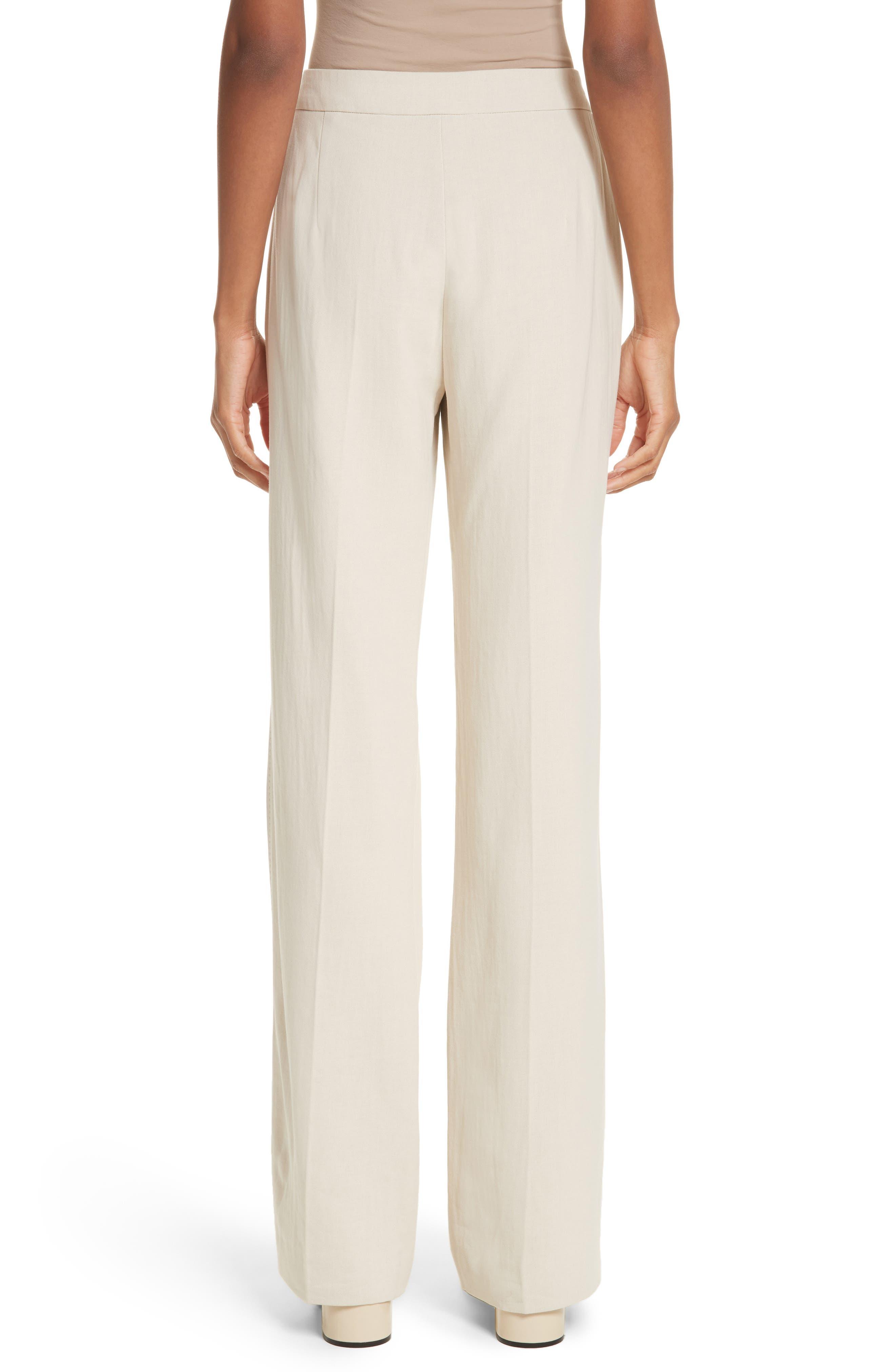 MAX MARA, Cursore Cotton Wide Leg Pants, Alternate thumbnail 2, color, 900