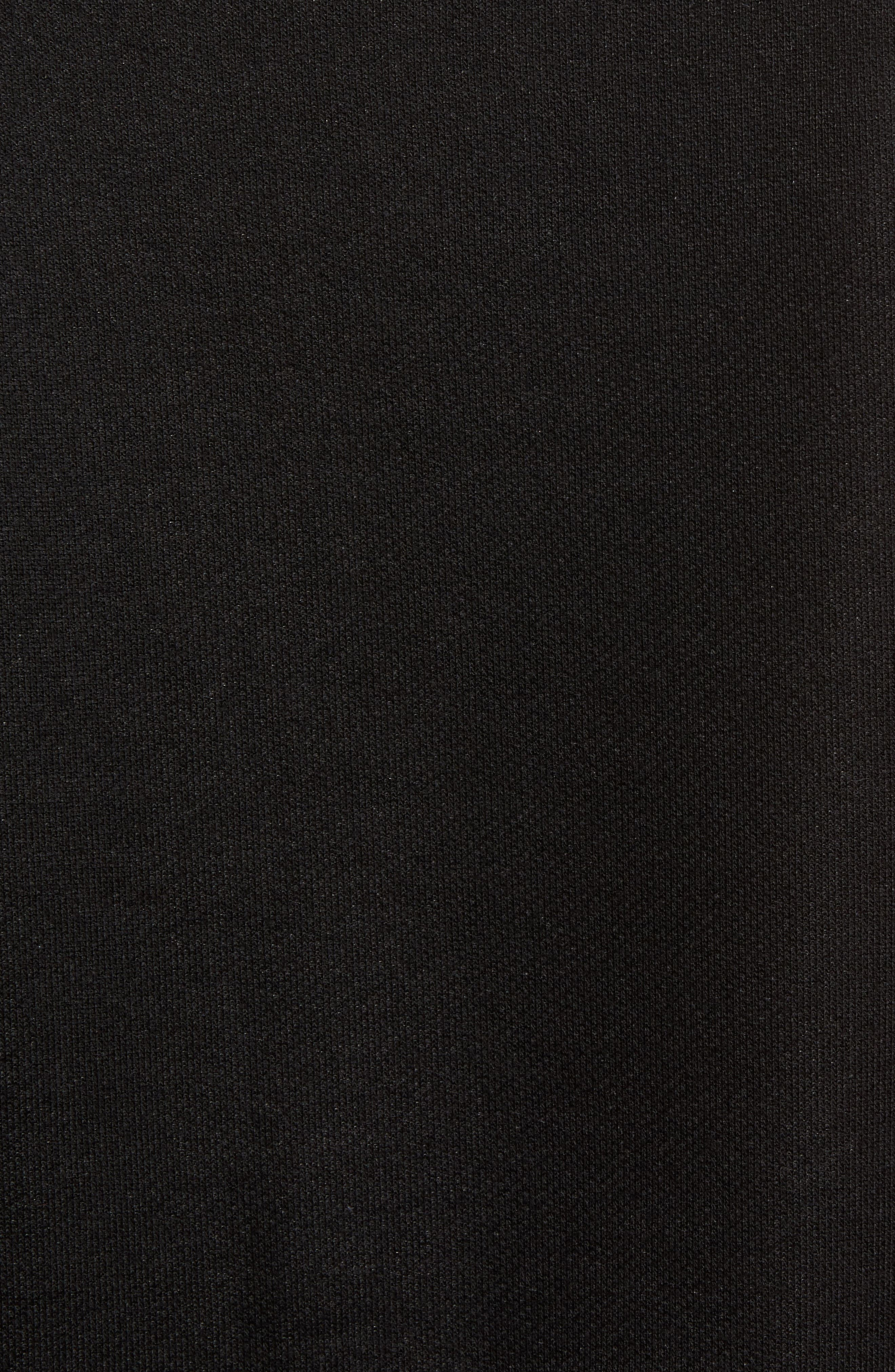 ALO, Dosha Relaxed Fit Sweatshirt Tank, Alternate thumbnail 5, color, BLACK